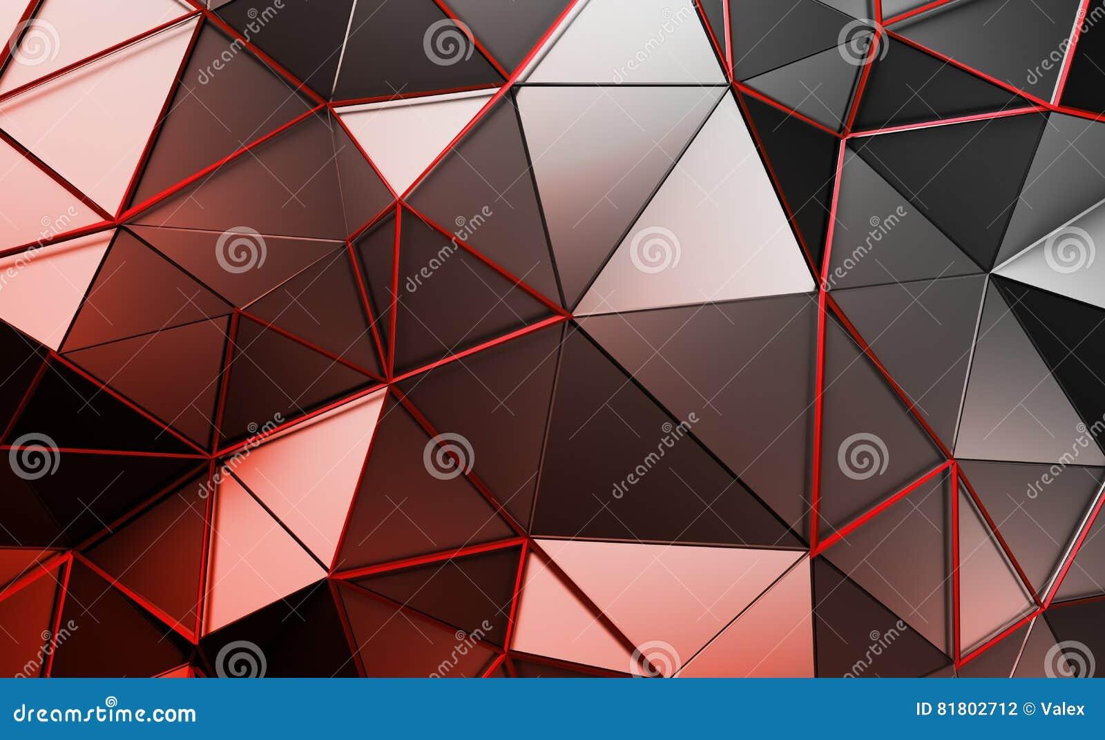 Абстрактный перевод 3D полигональной предпосылки