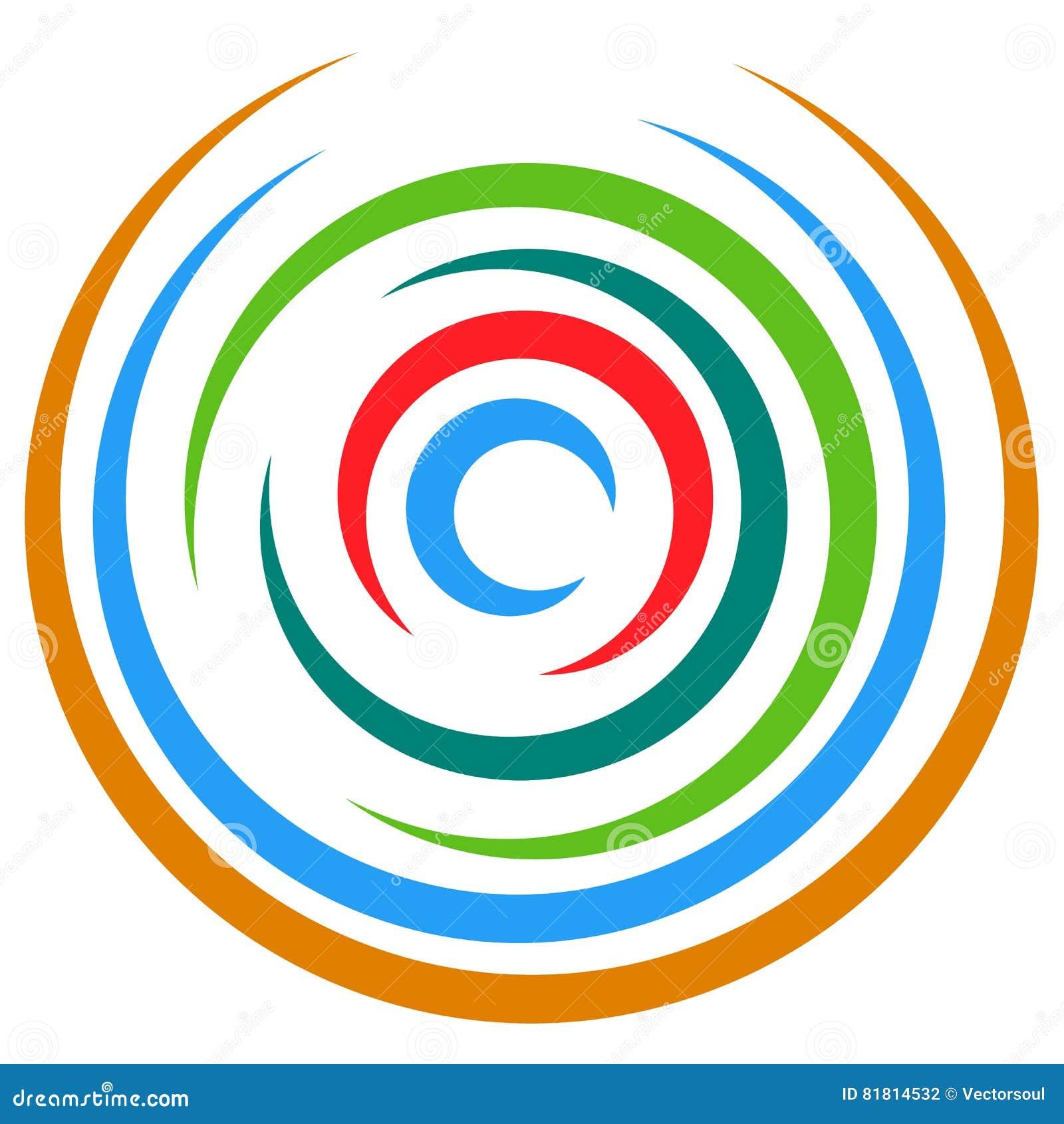 Абстрактный пестротканый круговой элемент Концентрические круги, кольцо