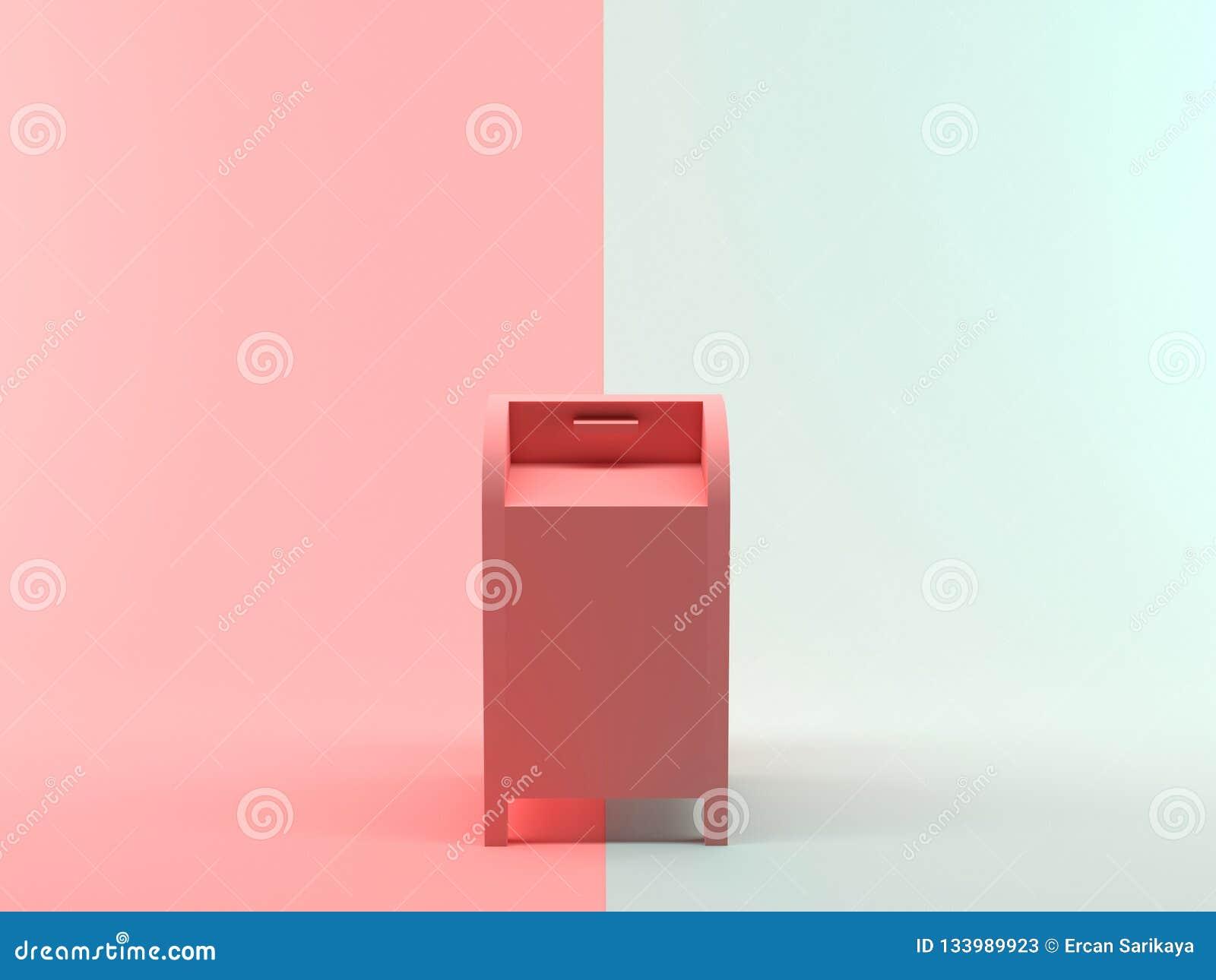 Абстрактный почтовый ящик перевода 3D