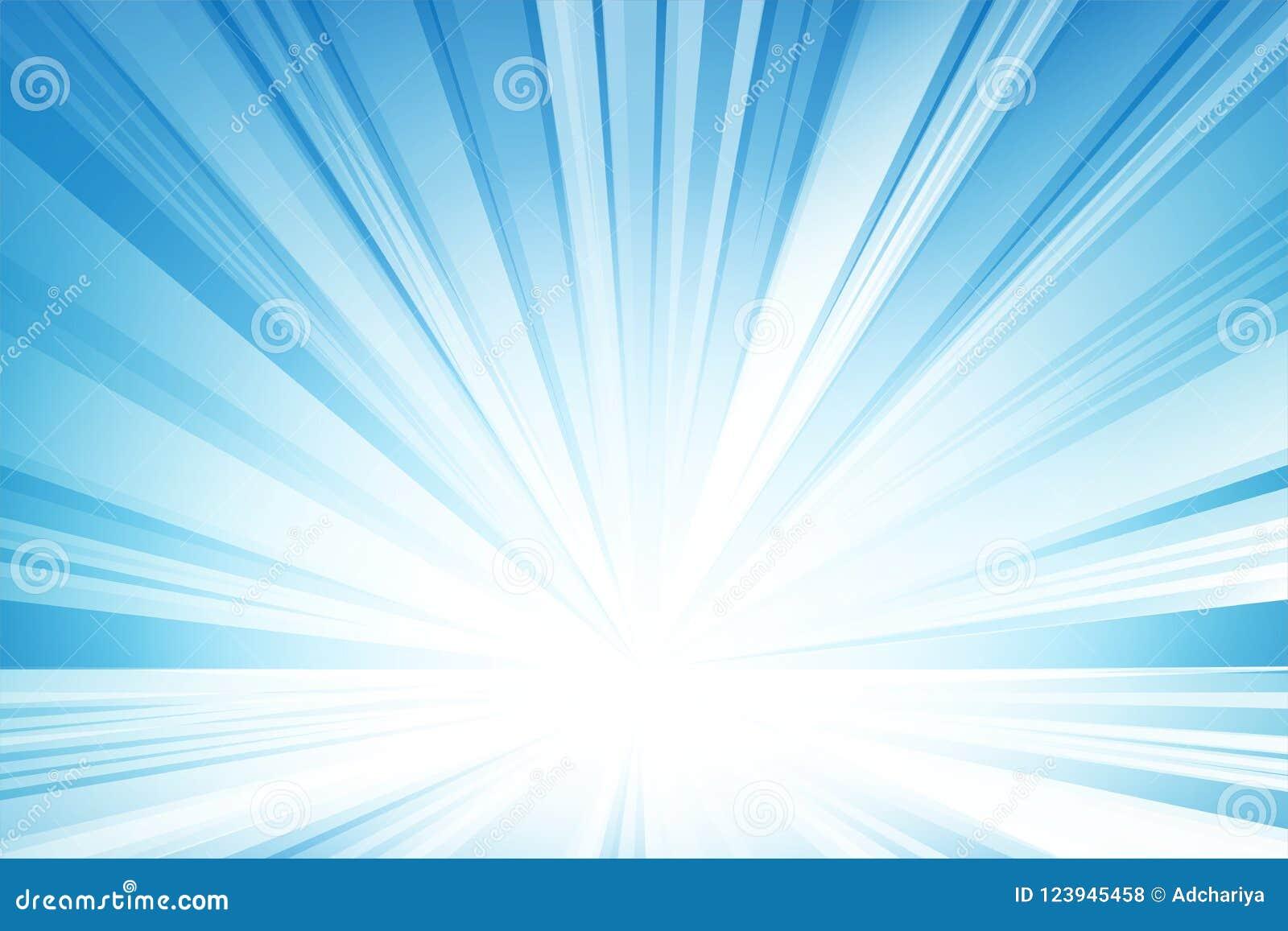 Абстрактный свет - голубые предпосылка, вектор и иллюстрация