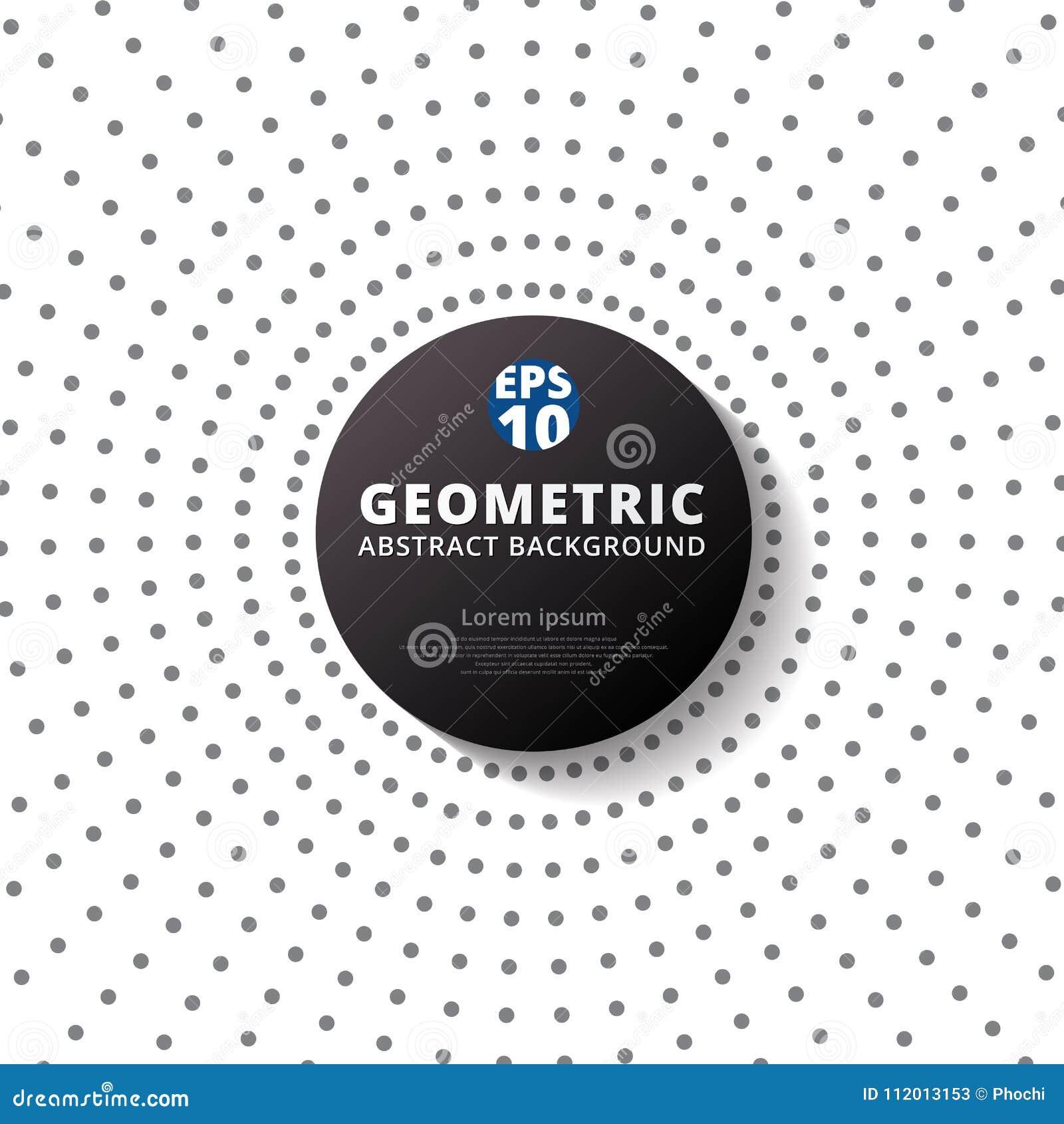 Абстрактный серый радиус полутонового изображения картины точек цвета с черным circ
