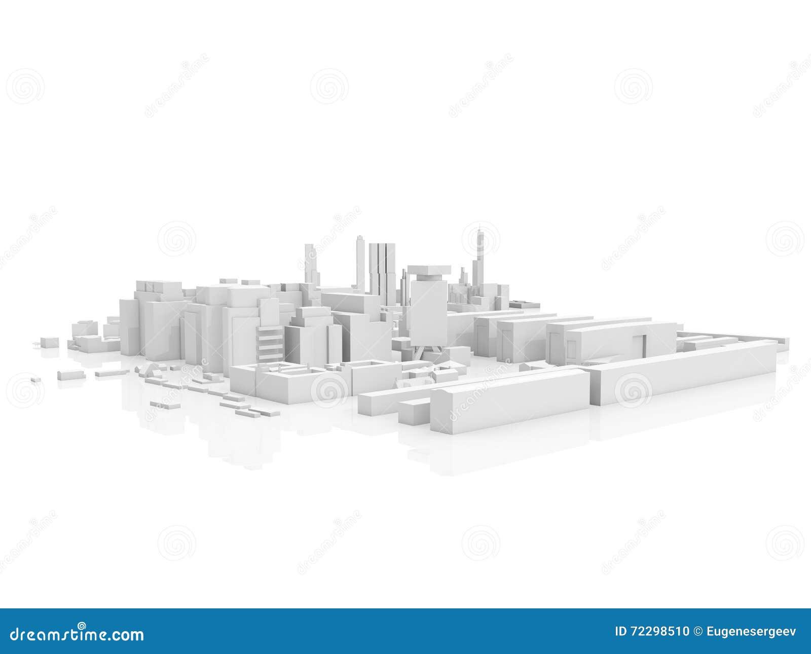 Download Абстрактный современный городской пейзаж, 3 D представляет Иллюстрация штока - иллюстрации насчитывающей concept, город: 72298510