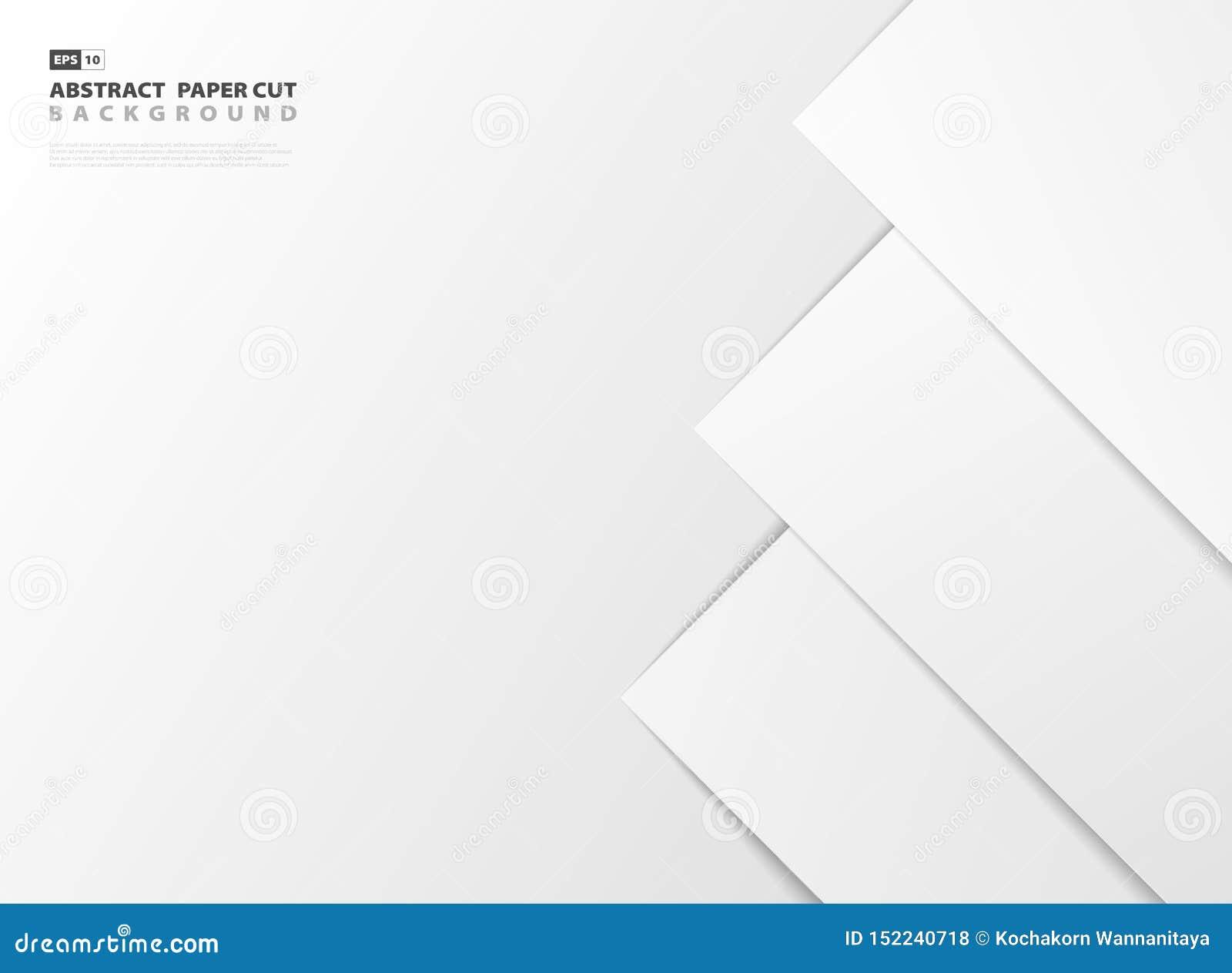 Абстрактный стиль отрезка белой бумаги градиента предпосылки дизайна картины правильной стороны r