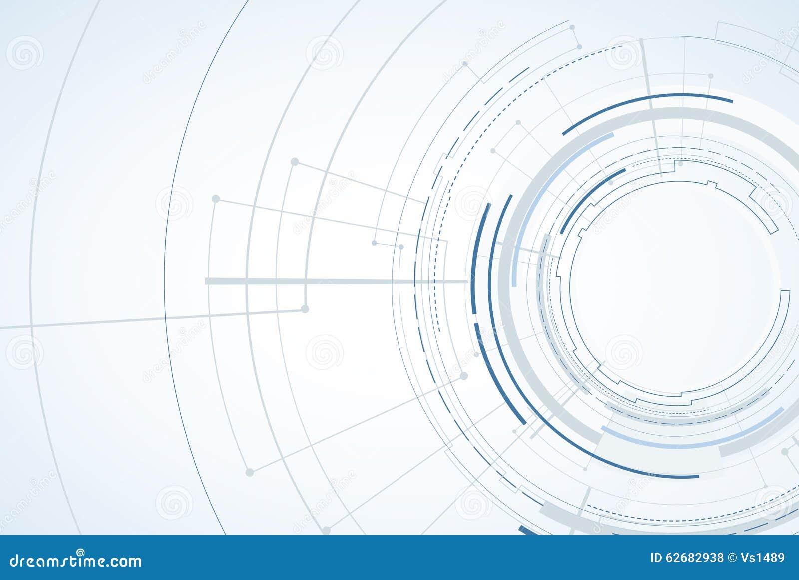 абстрактный техник предпосылки Футуристический интерфейс технологии Vecto