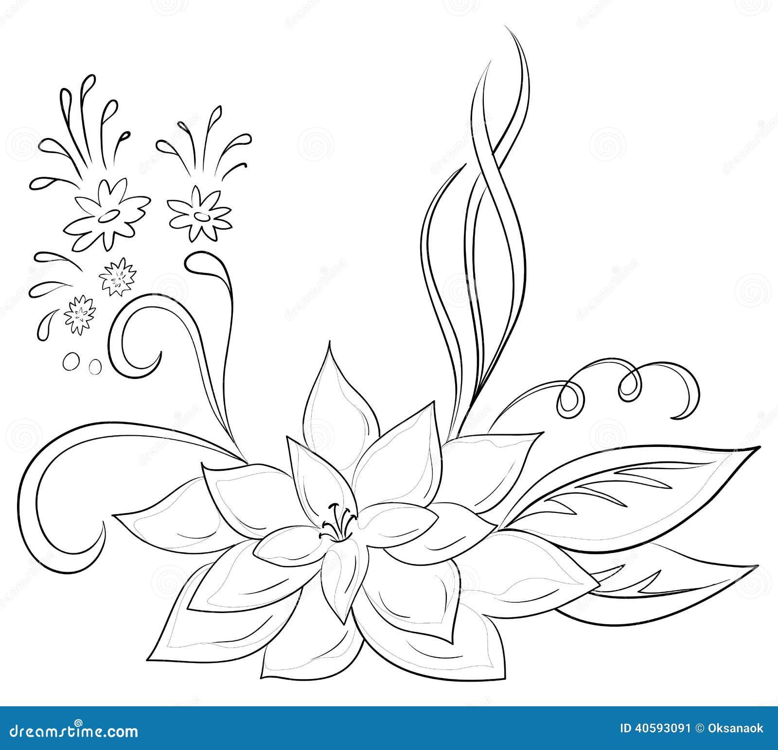 Как рисовать цветы контуры