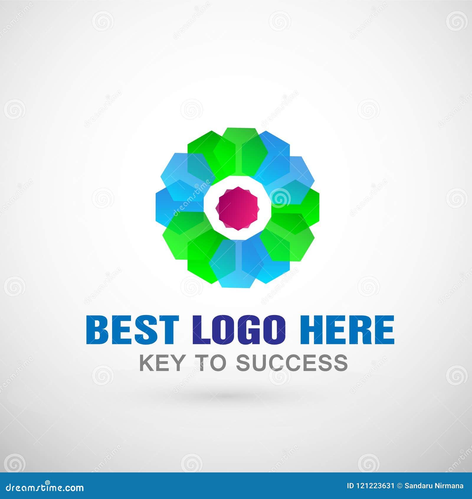 Абстрактный цветок сформировал логотип дела, соединение на корпоративном инвестирует дизайн логотипа дела Финансовые инвестиции