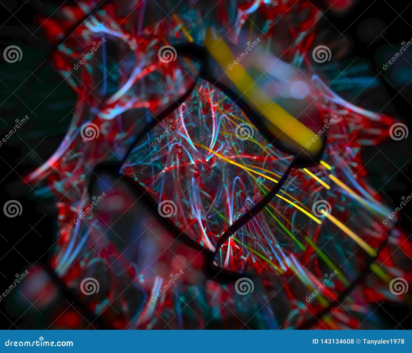 Абстрактный цифровой график света стиля фрактали, представляет художественный, элегантность, динамика