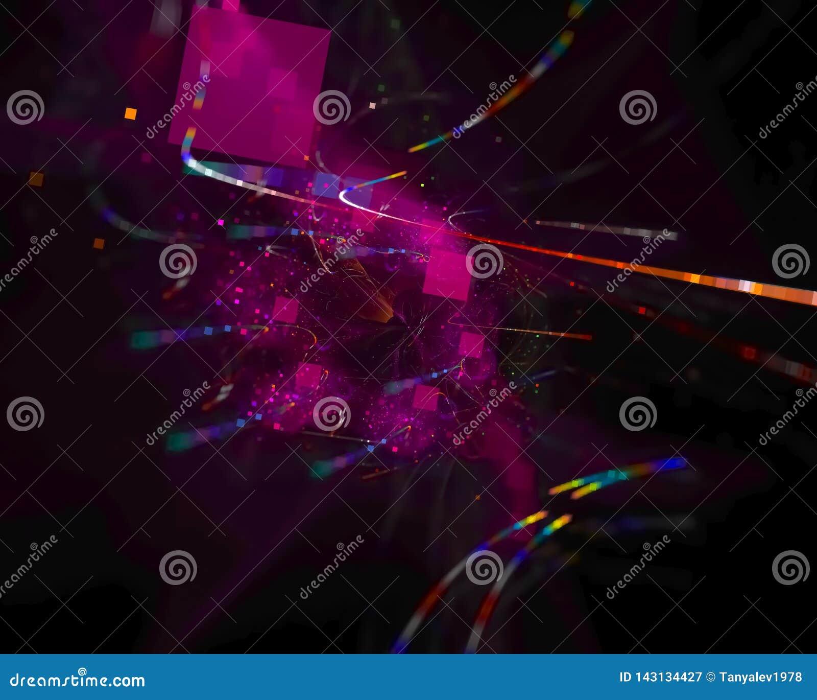 Абстрактный цифровой график фрактали творческий, представляет художественный, элегантность, динамика