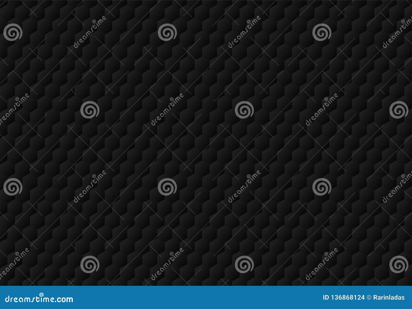 Абстрактный черный шестиугольник выбил предпосылку и текстуру картины темные Роскошный стиль