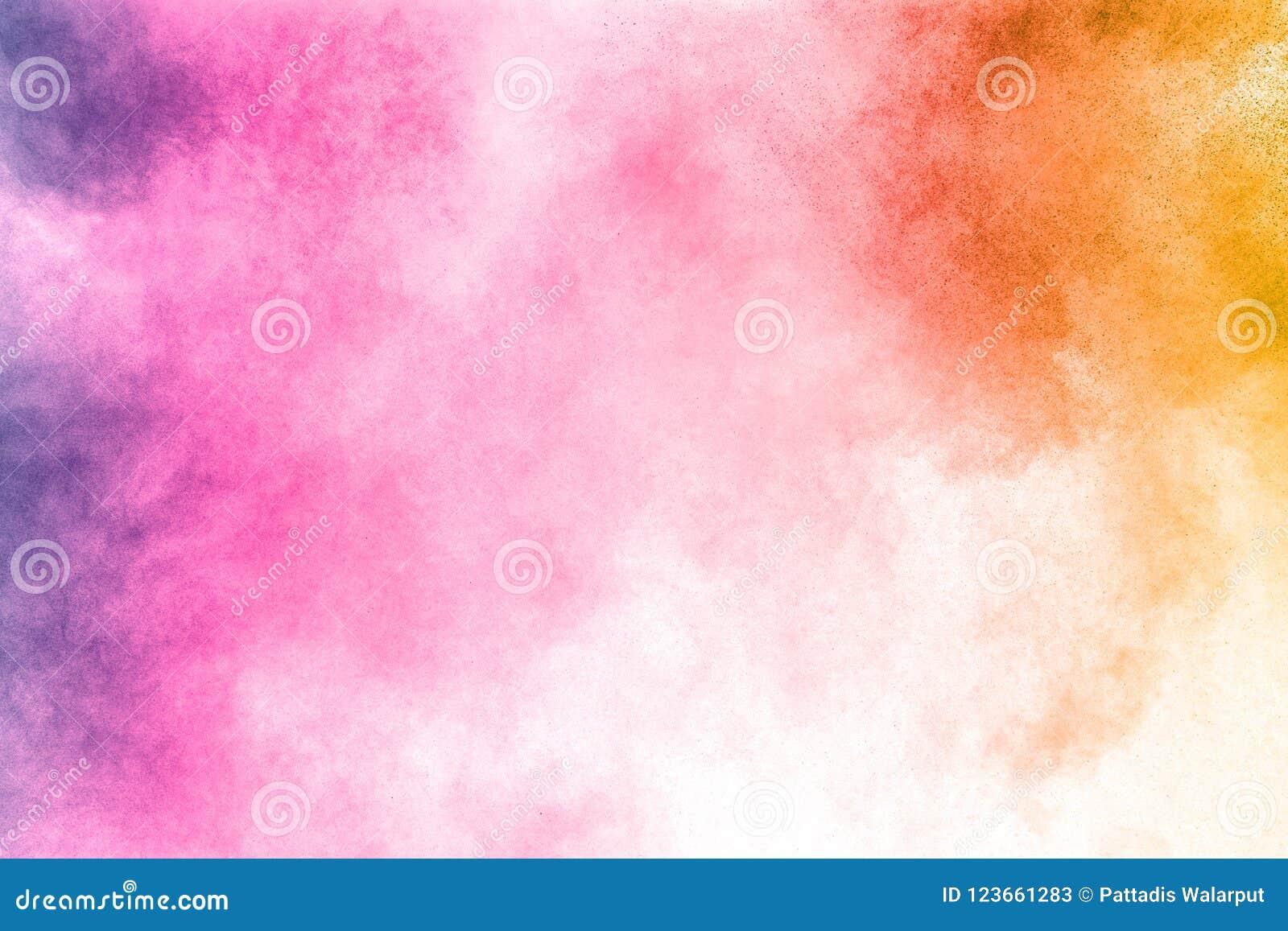 Абстрактный multi взрыв порошка цвета на белой предпосылке