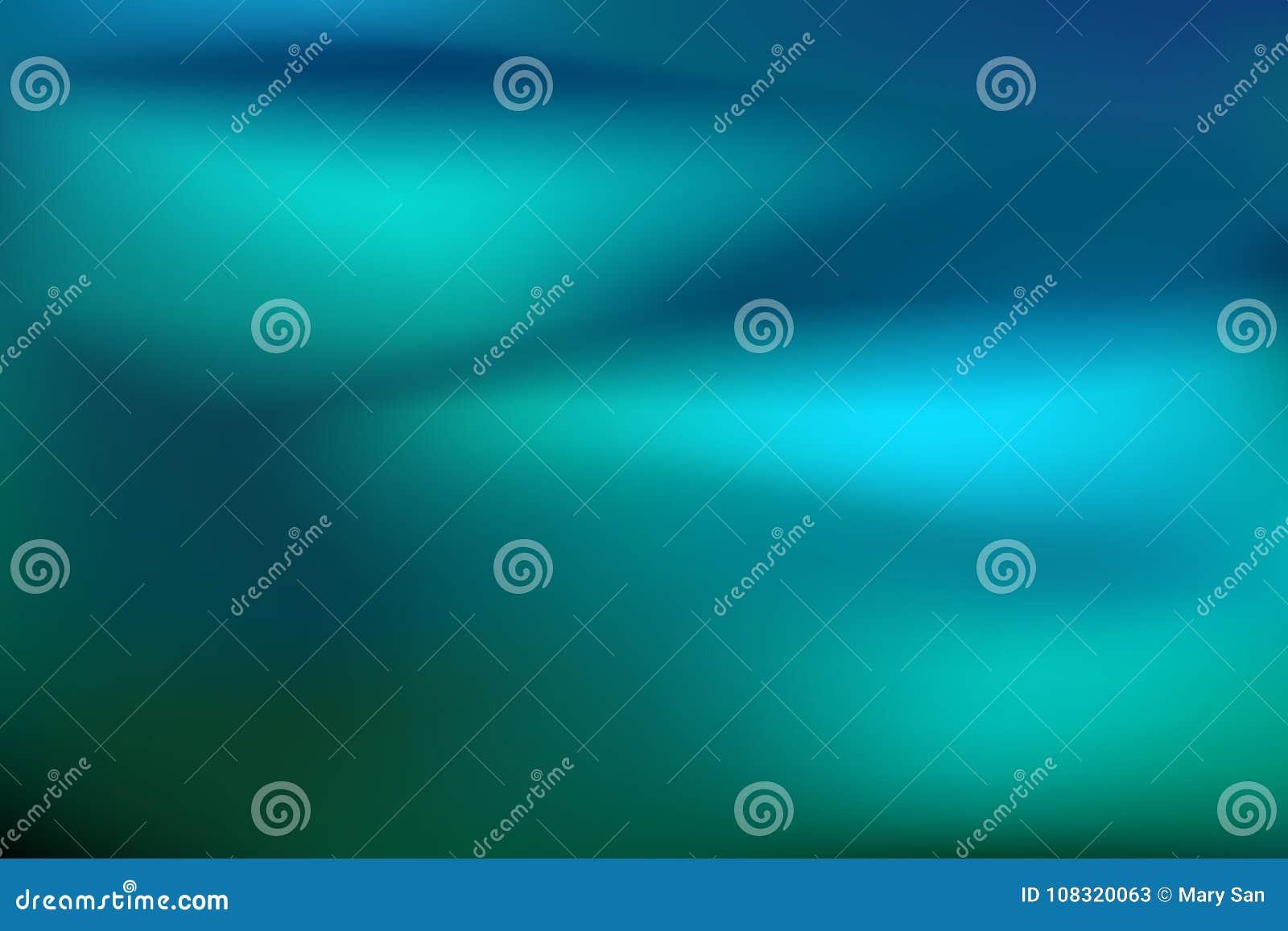 абстрактный teal предпосылки Запачканный фон воды бирюзы Vector иллюстрация для ваших знамени или aqua графического дизайна