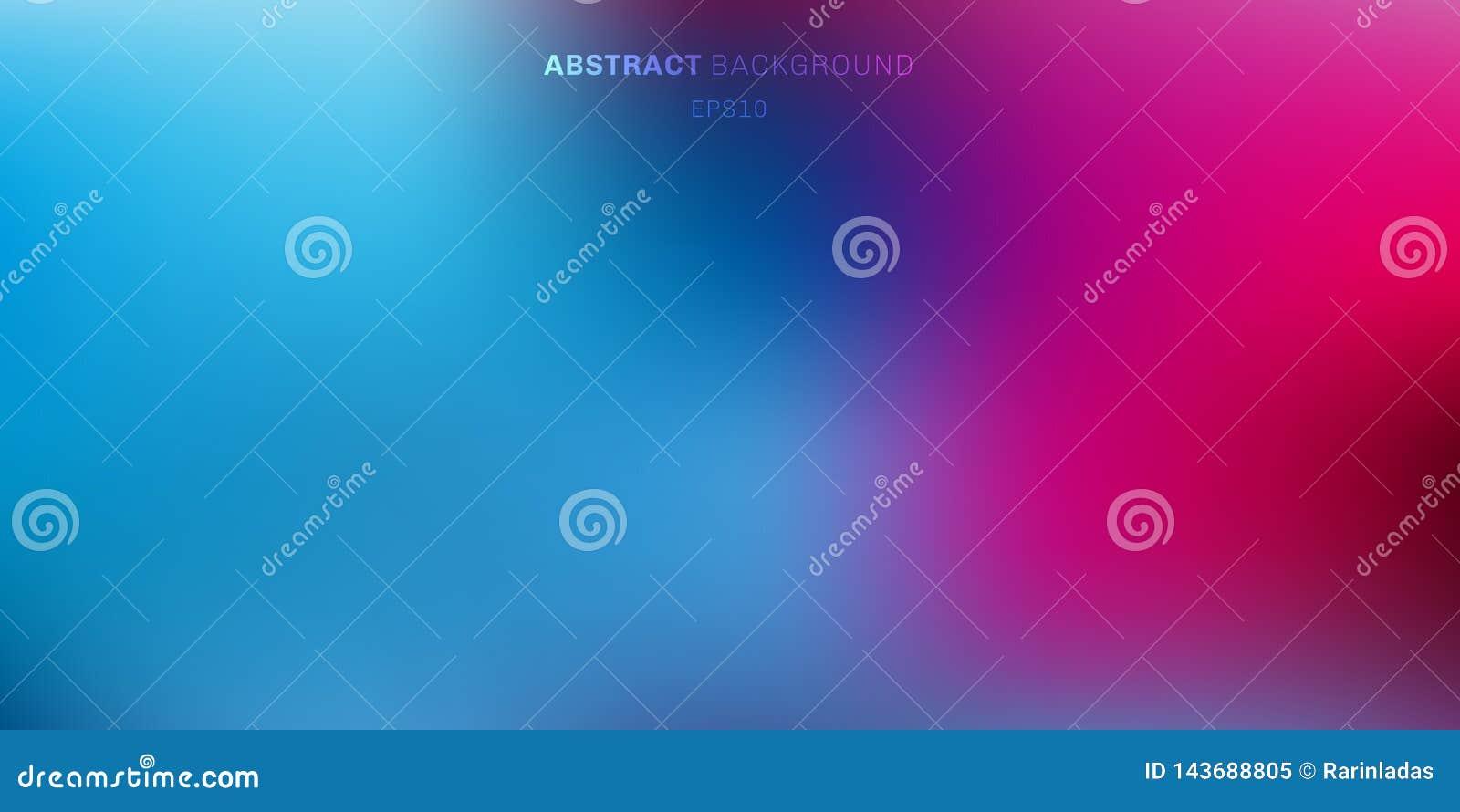 Абстрактным голубым, пурпурным, розовым живым предпосылка запачканная цветом Мягкая темнота для того чтобы осветить фон градиента