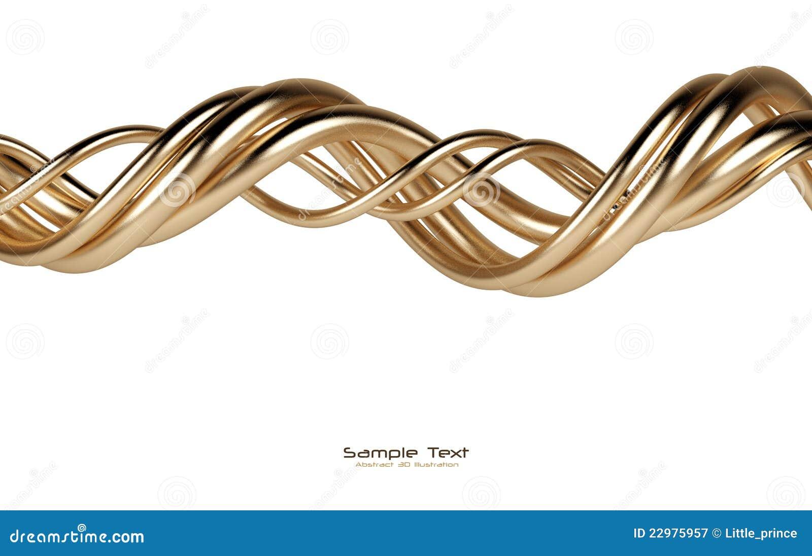 абстрактным линии предпосылки изолированные золотом