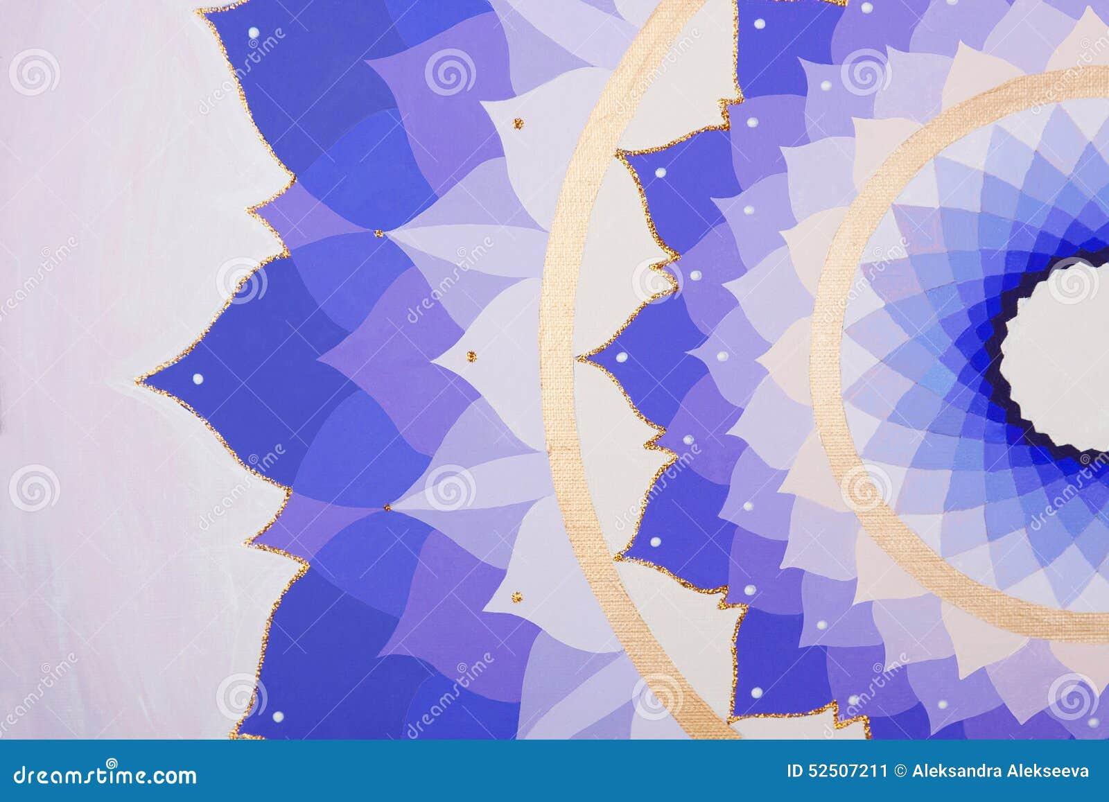 Абстрактным покрашенная пурпуром мандала изображения
