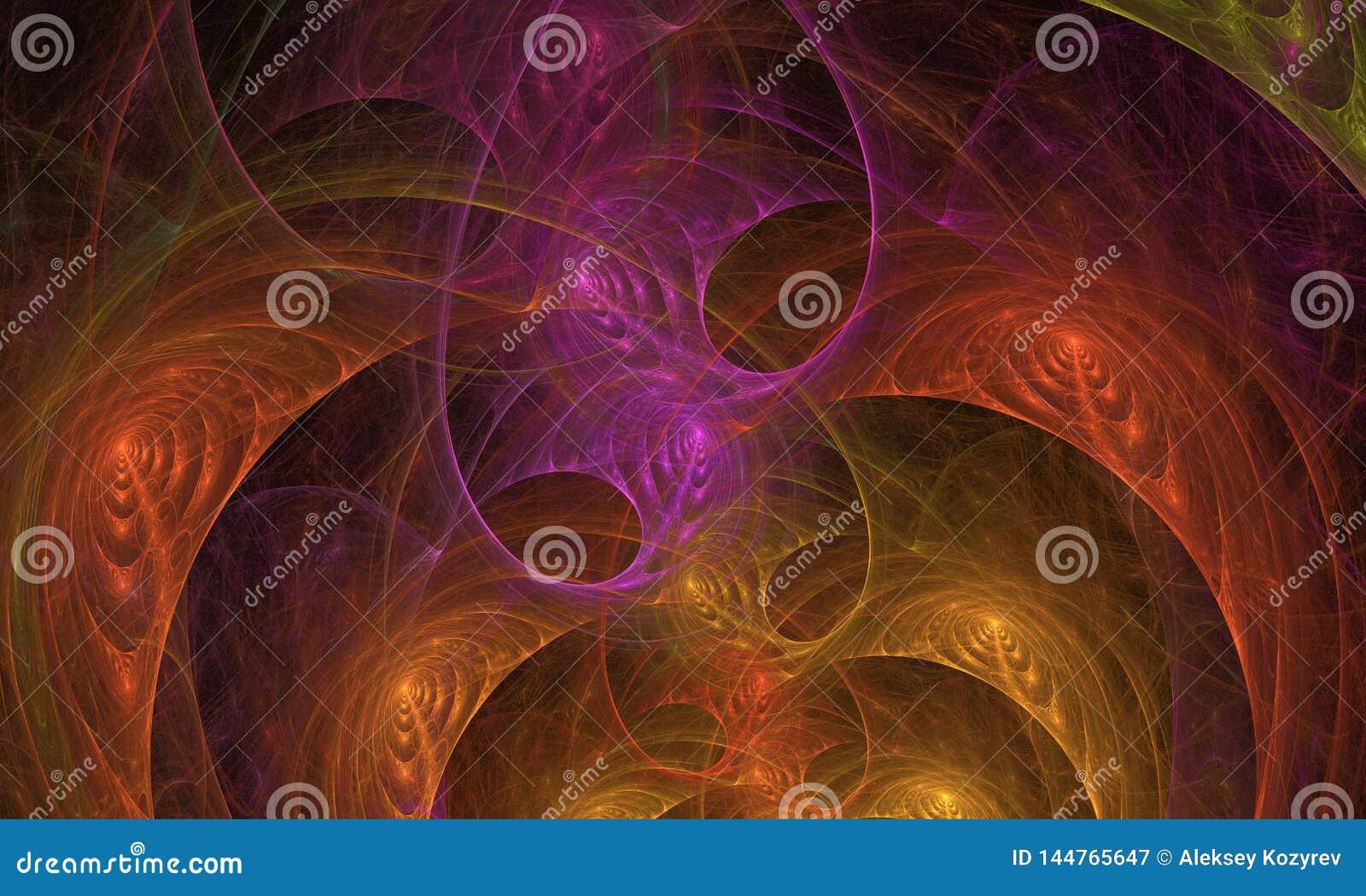 Абстракция фрактали светя для предпосылки