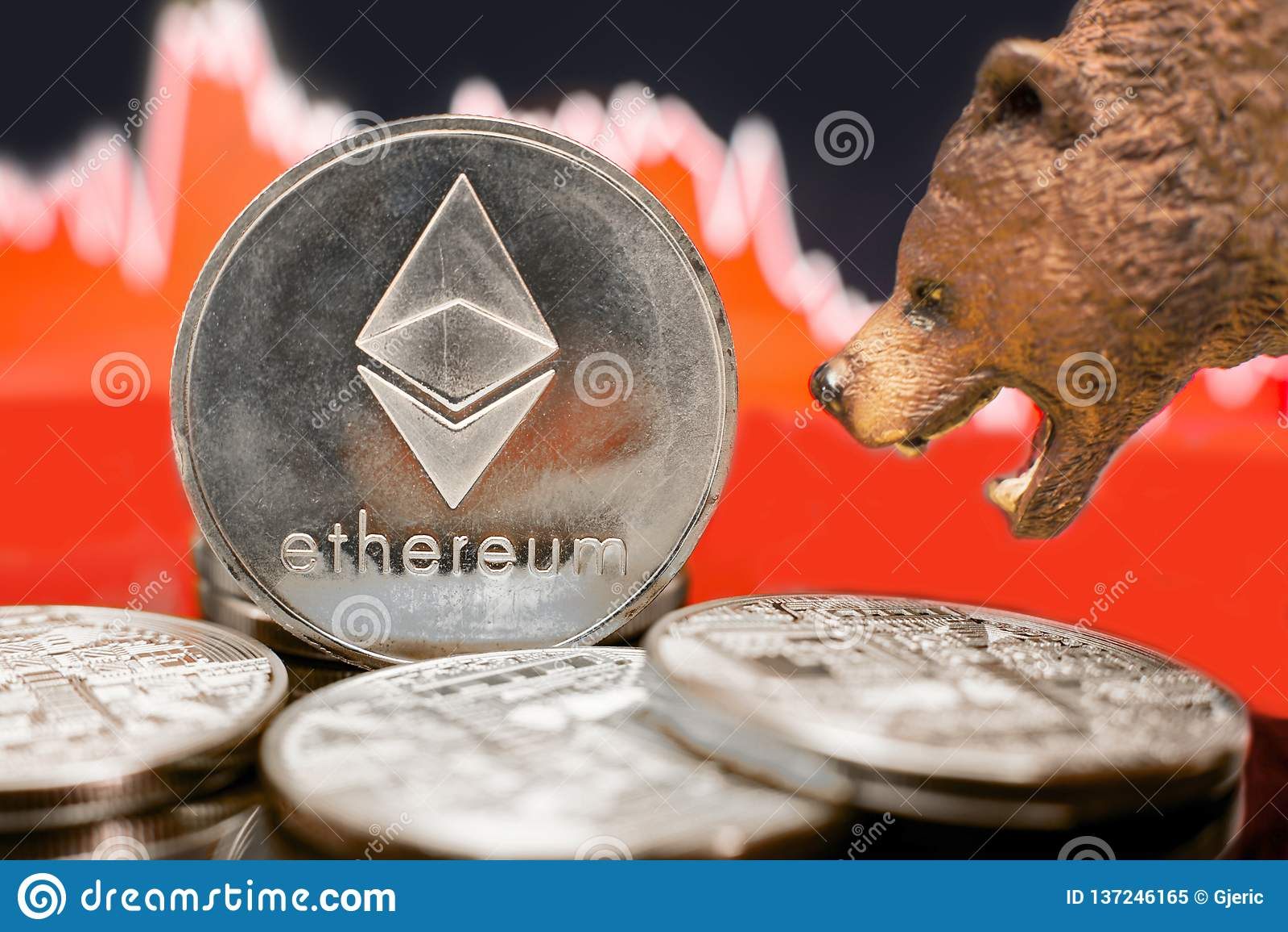 Авария медвежей цены Ethereum секретная