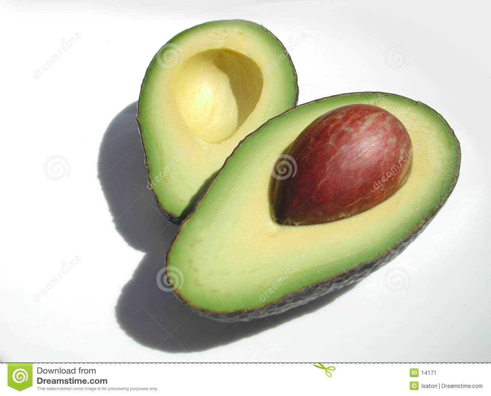 авокадо половинный