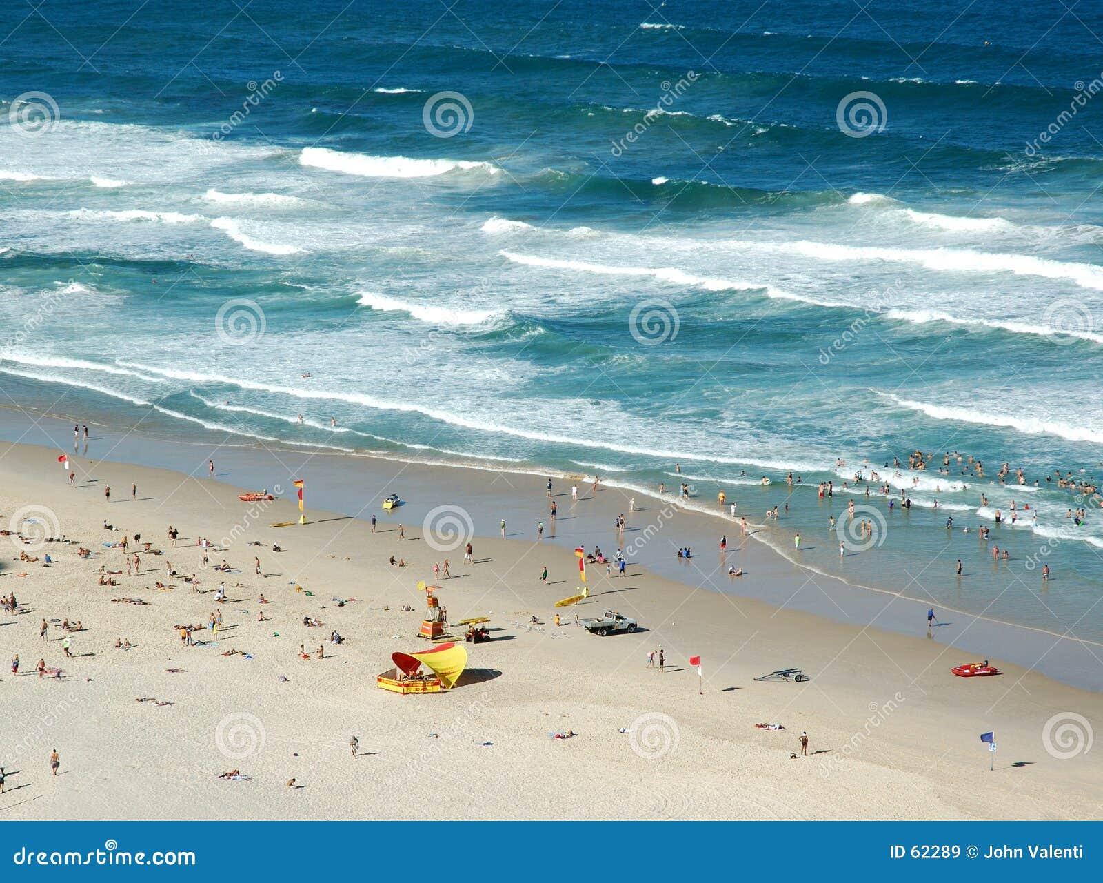 австралийское место пляжа