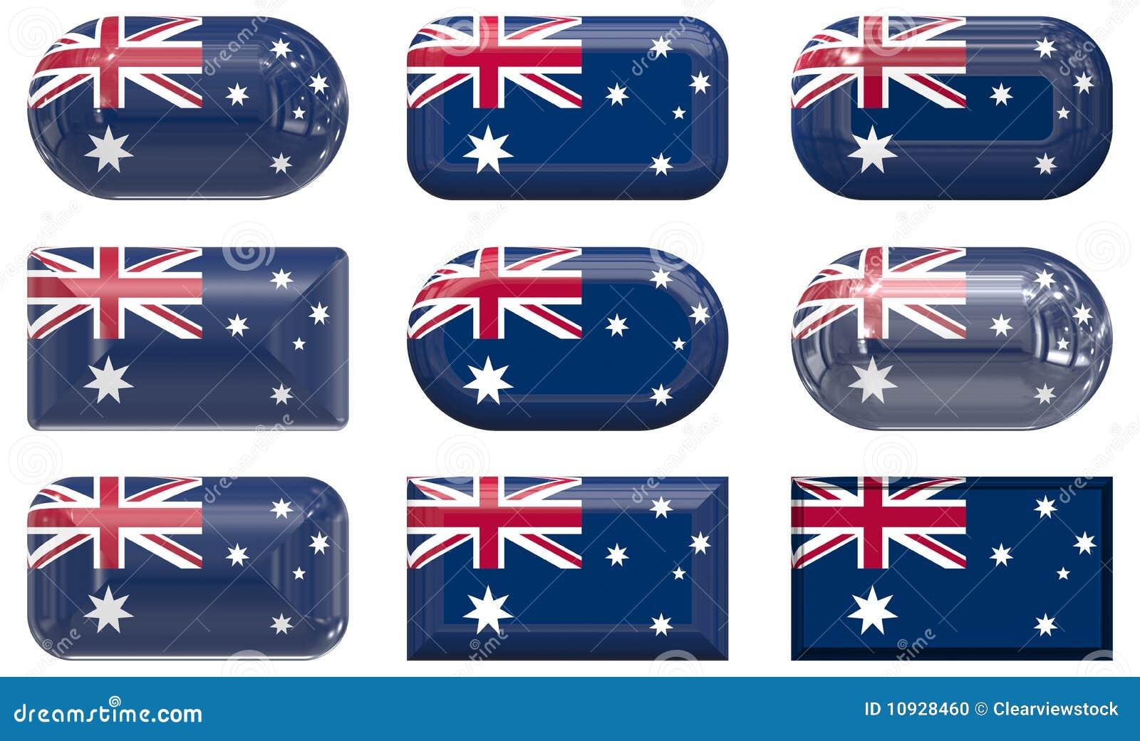 Австралия застегивает стекло 9 флага