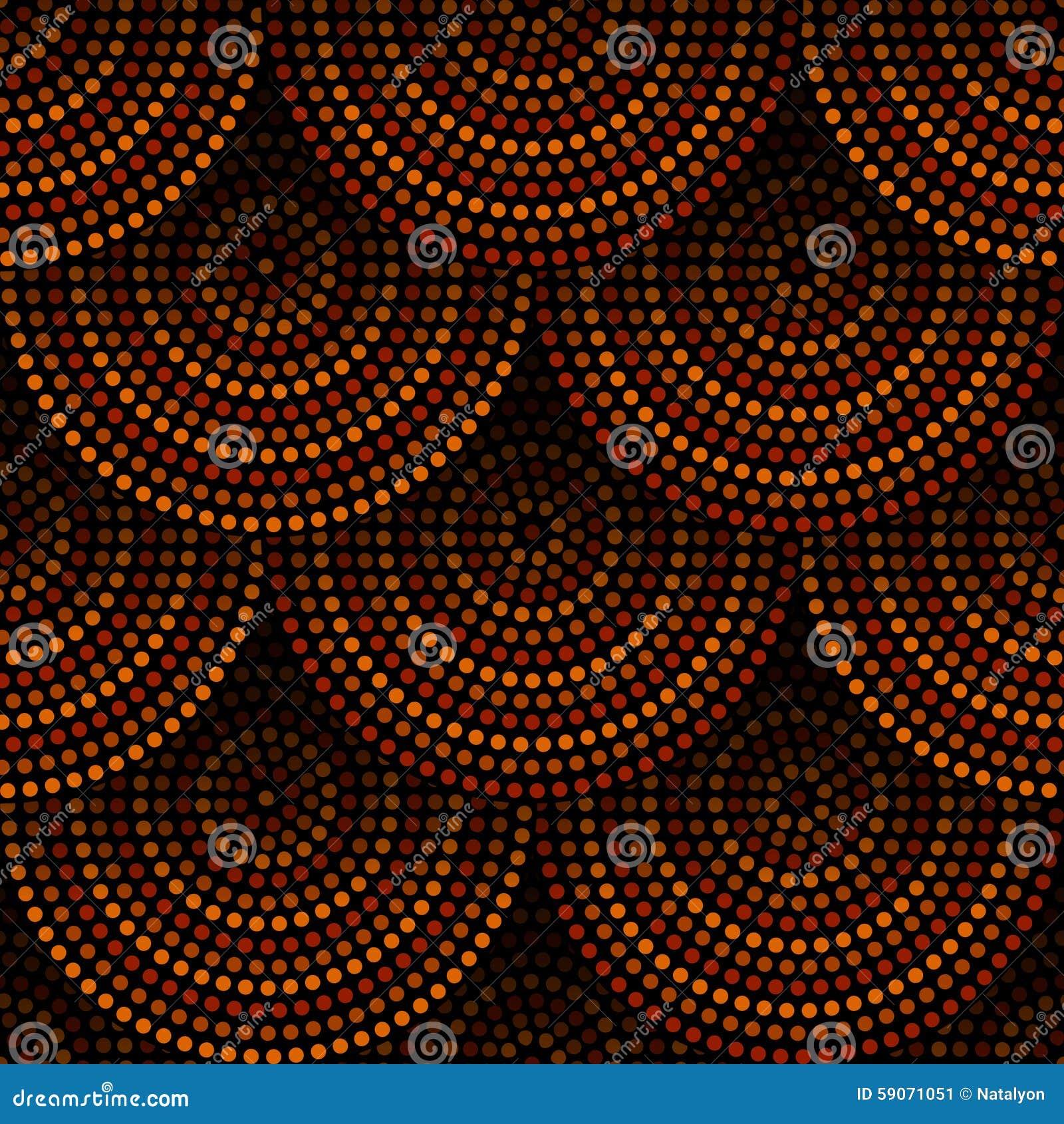 Австралийская аборигенная геометрическая картина концентрических кругов искусства безшовная в оранжевые коричневом и черный, вект