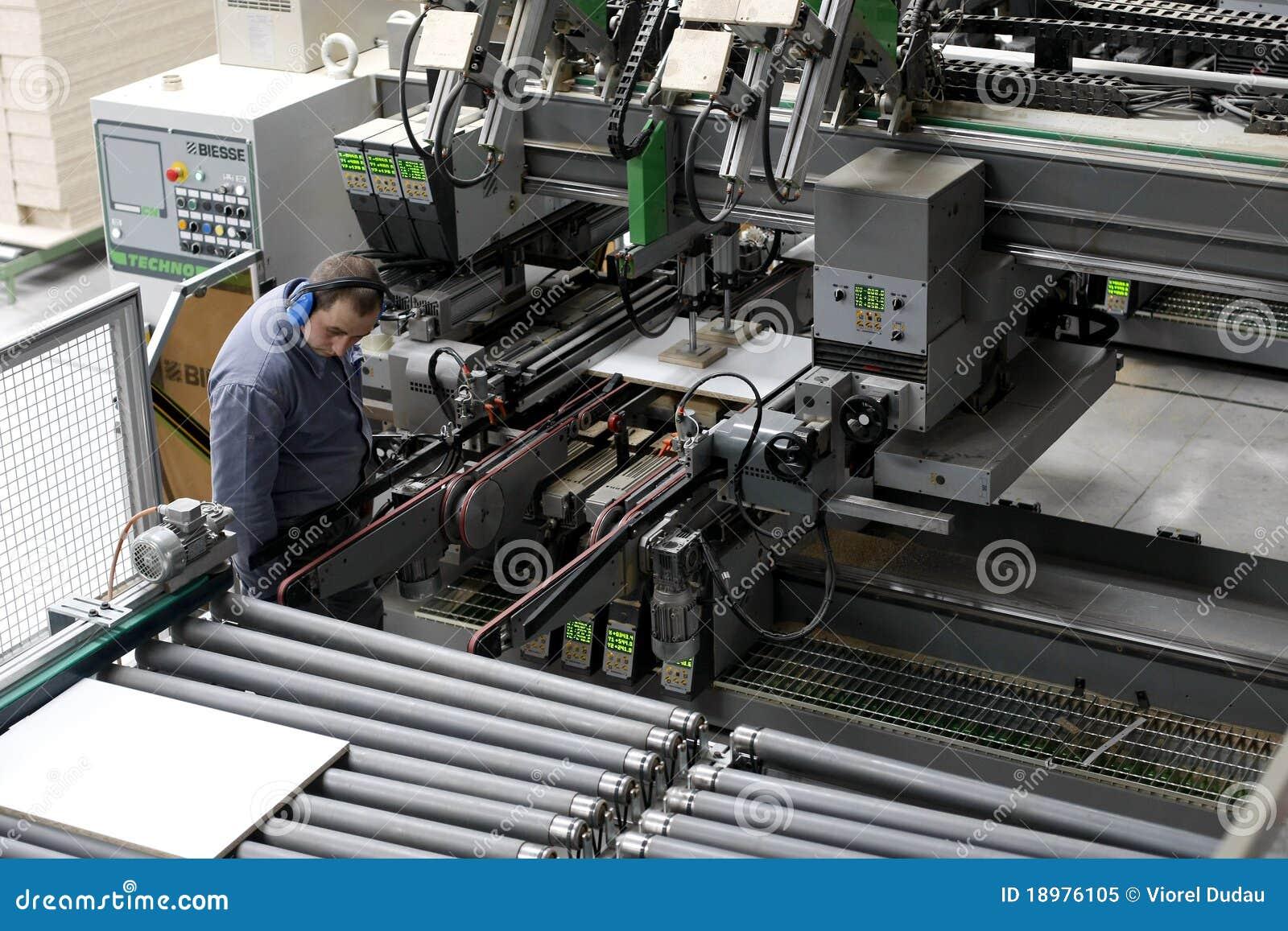 автоматический работник мебели фабрики