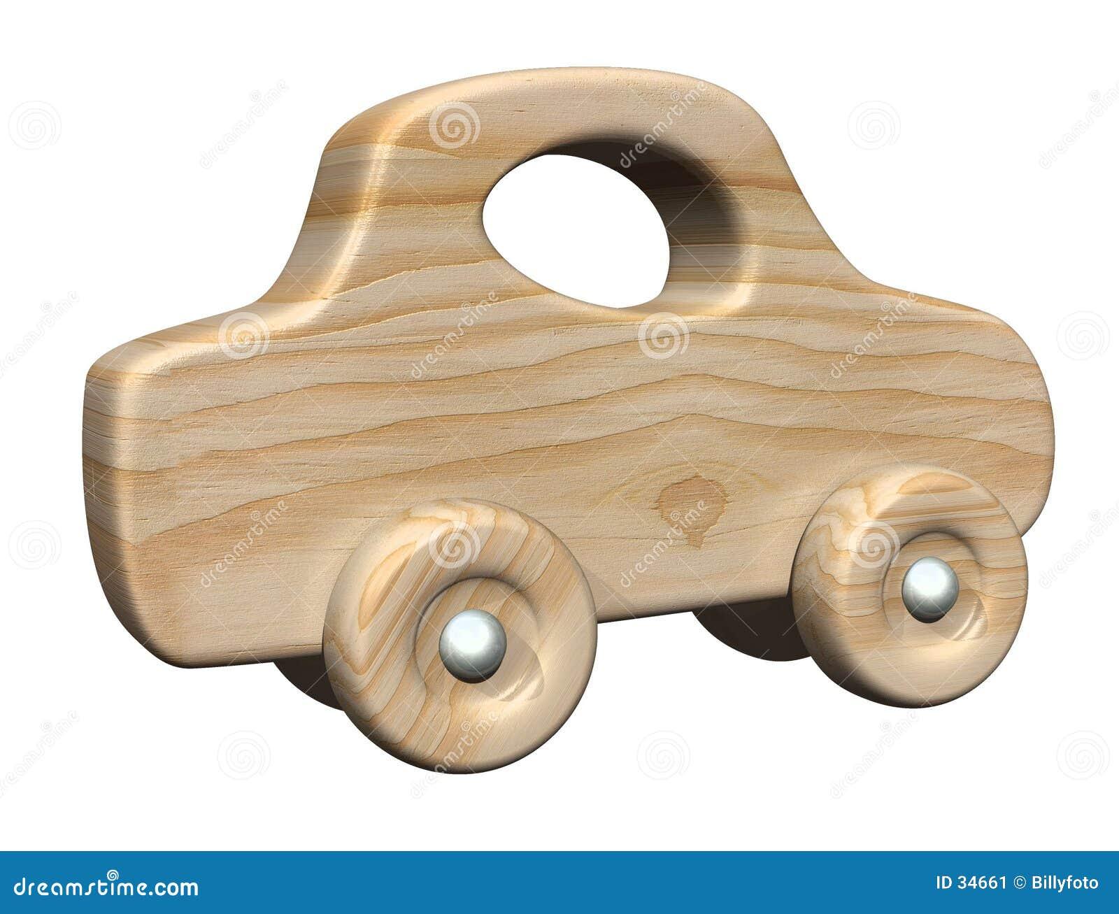 автомобиль деревянный