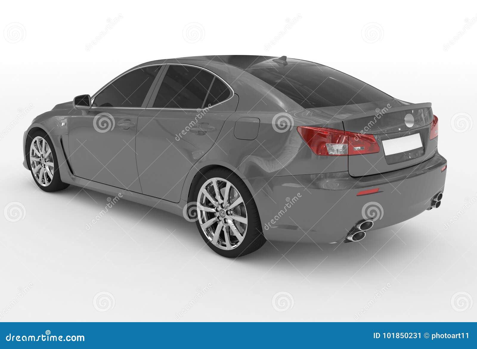 Автомобиль изолированный на бело- серой краске, подкрашиванном стекле - назад-левом sid