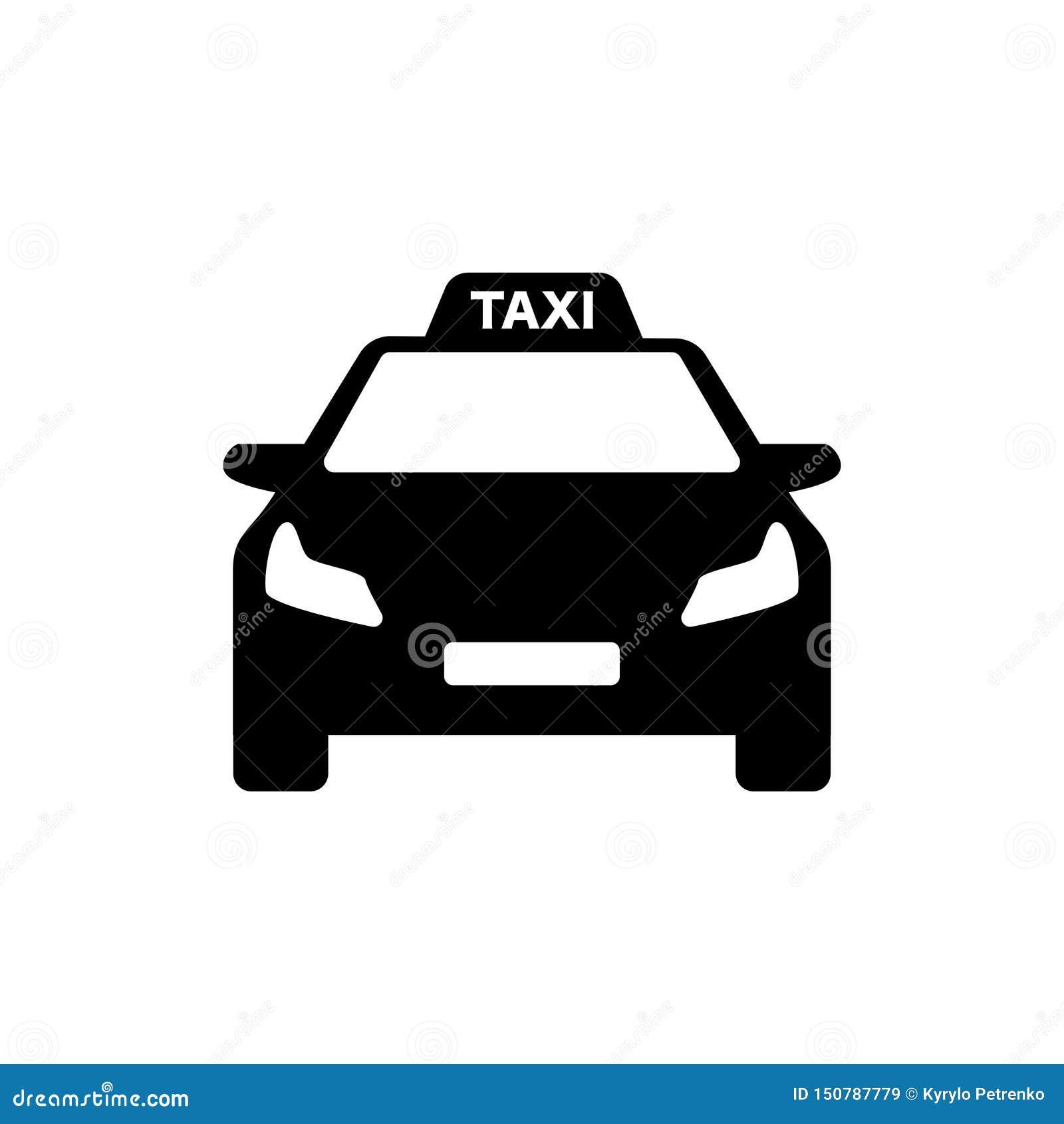 Автомобиль черно-белого логотипа такси современный