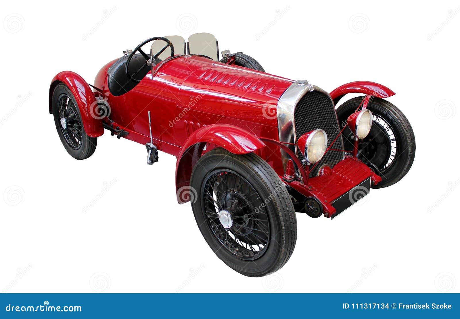 Автомобиль Oldtimer изолированный на белизне