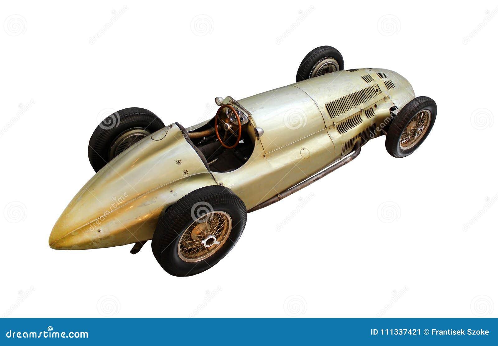 Автомобиль oldtimer спорта изолированный на белизне