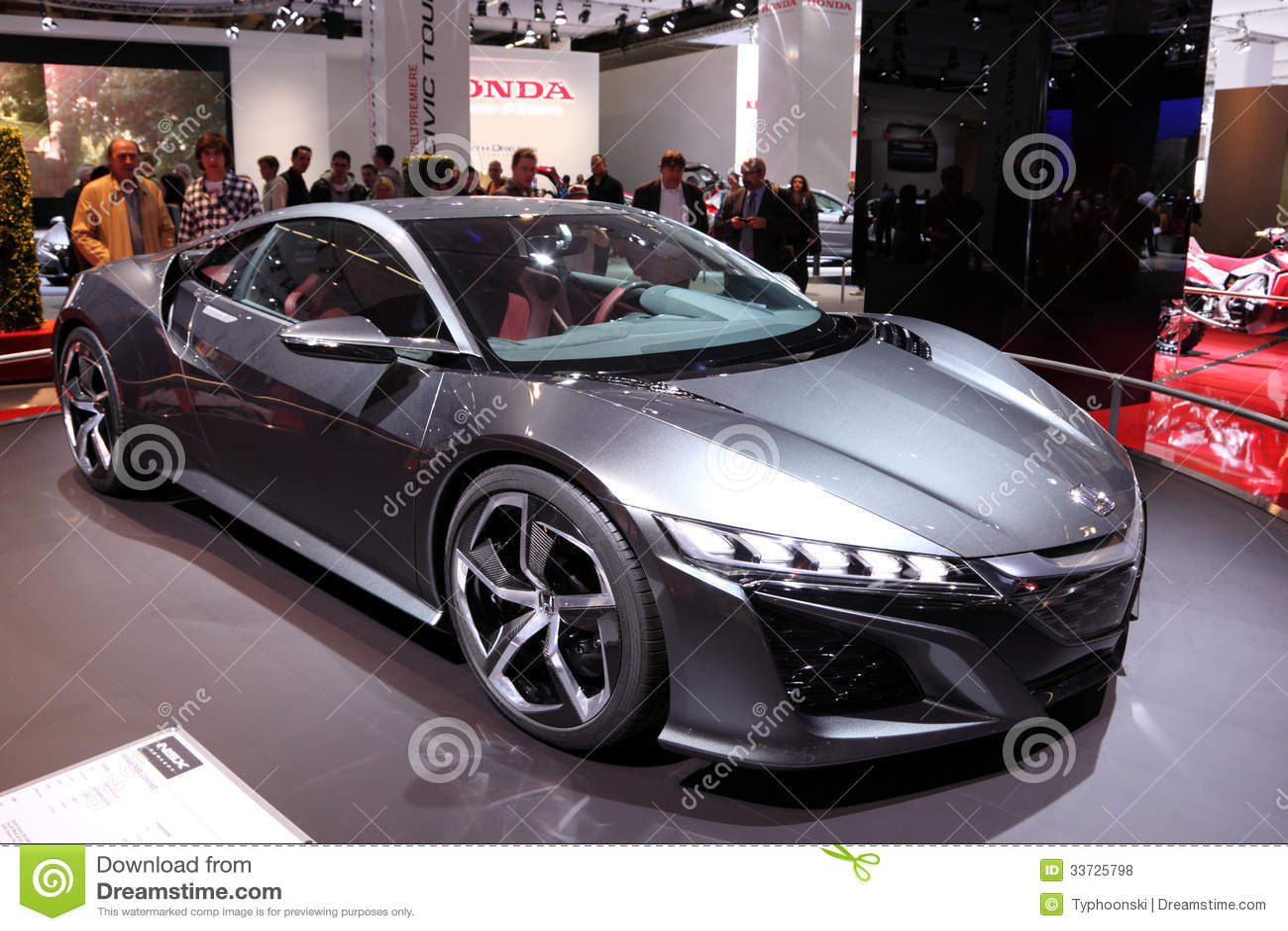 Автомобиль принципиальной схемы Honda NSX
