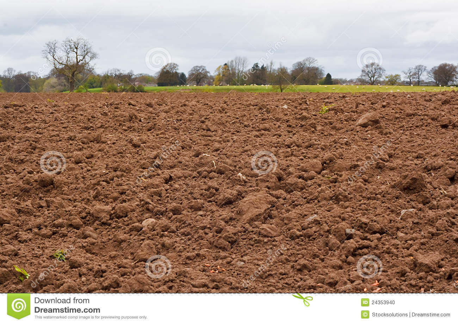 аграрное выкопанное поле свеже
