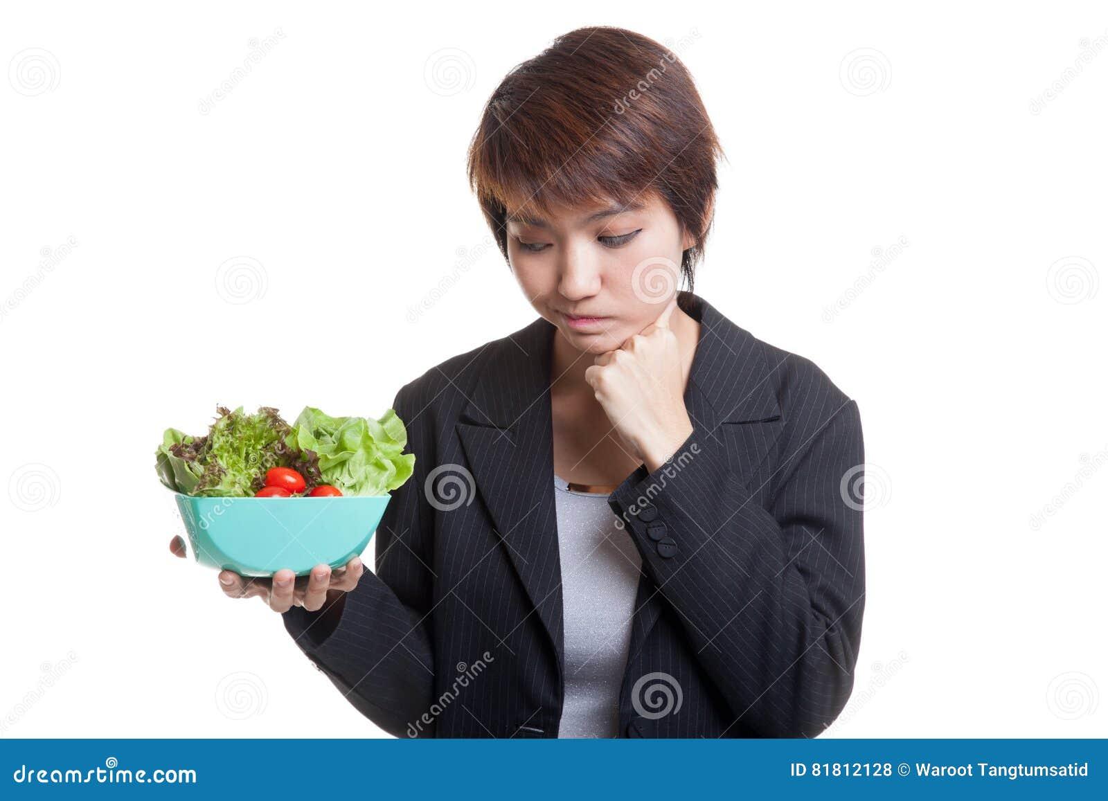 Азиатский салат ненависти бизнес-леди