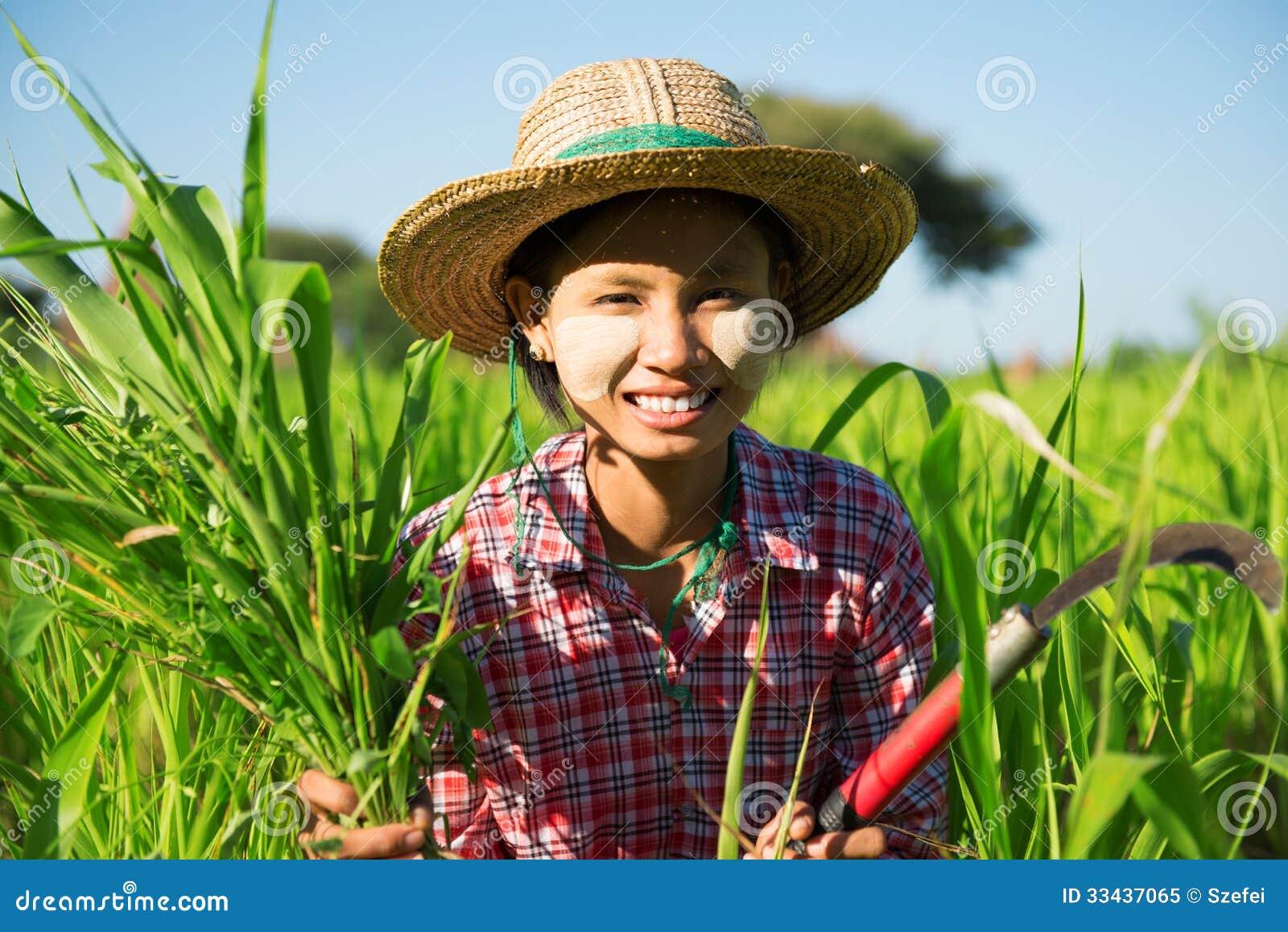 Азиатский традиционный фермер