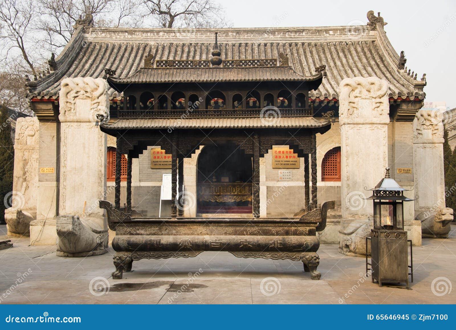 Азия Китай, Пекин, архитектура ŒLandscape ¼ spotï White Cloud Temple сценарная