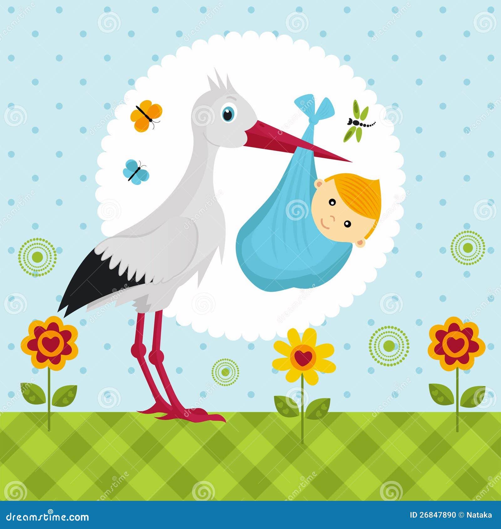 картинки аист и ребёнок