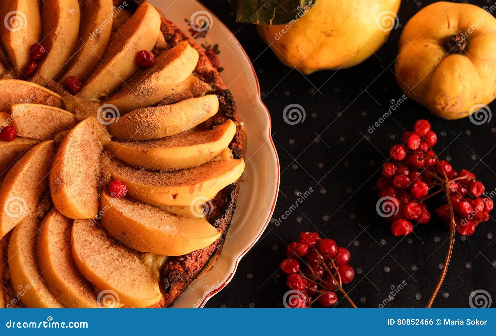 Айва флана с циннамоном и клюквами custard Печенье Shortcrust
