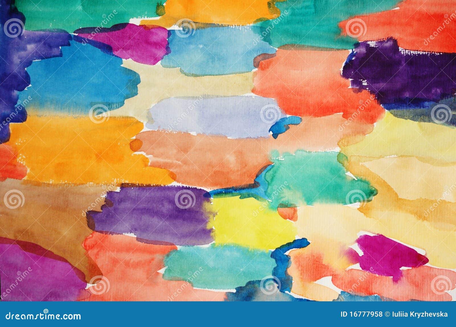 акварель предпосылки искусства покрашенная рукой