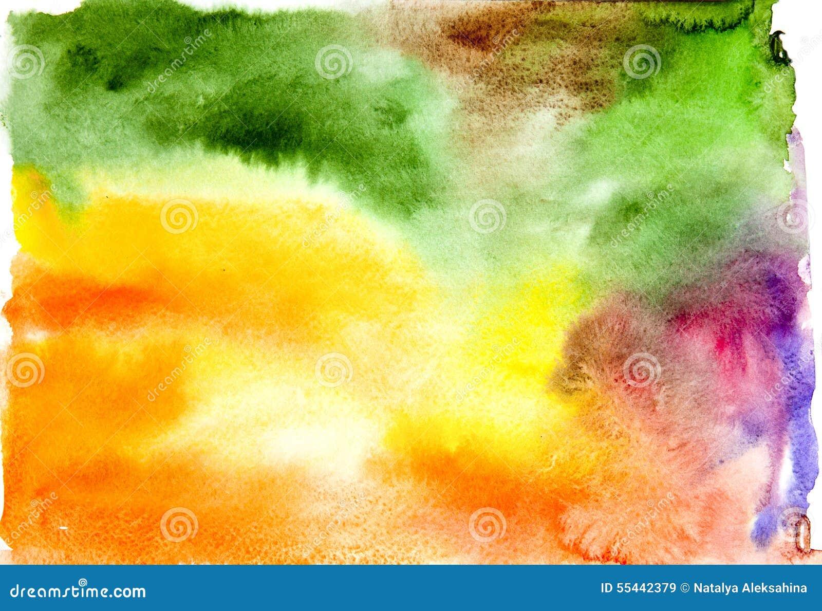 акварель абстрактной предпосылки цветастая