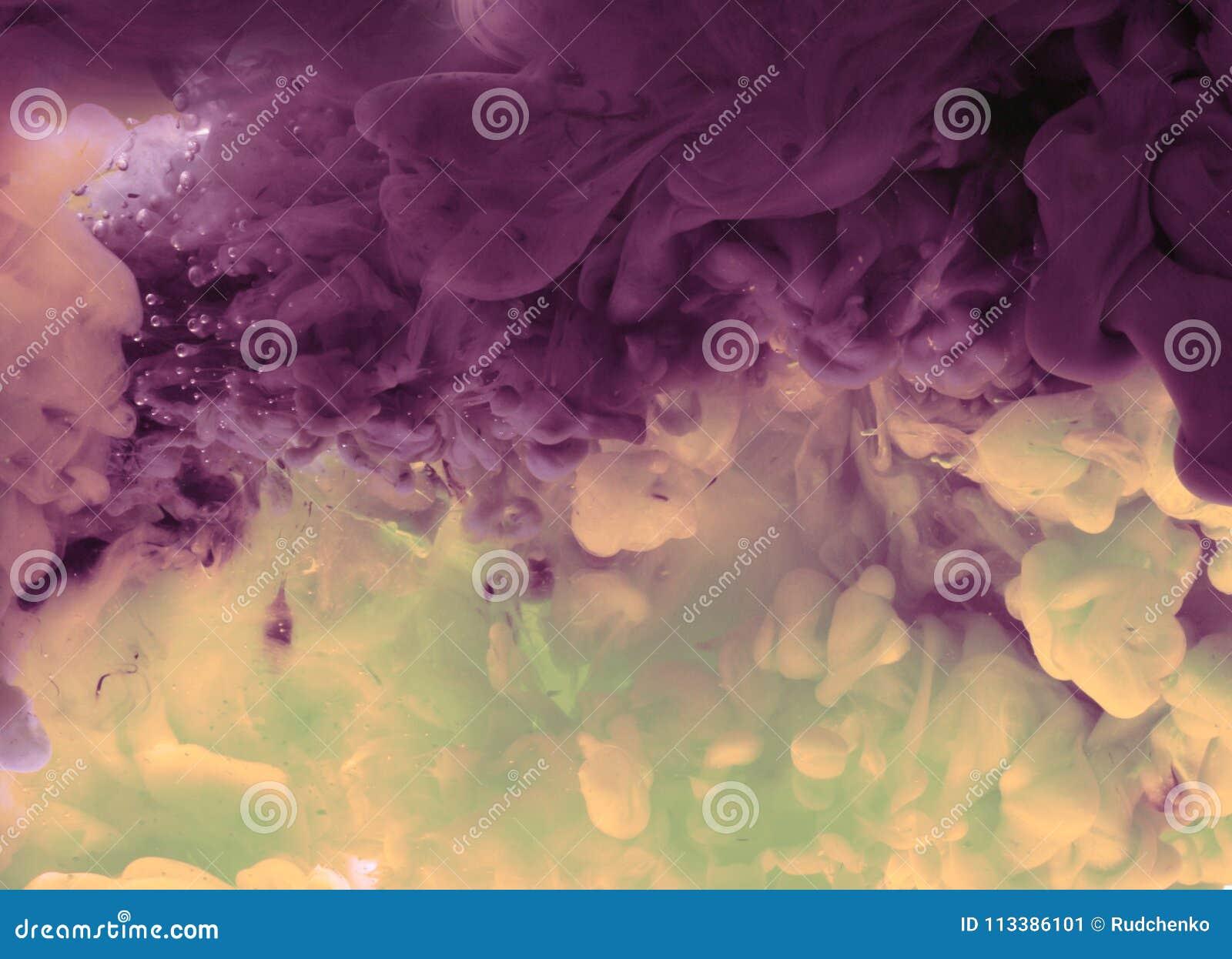 Акриловые цветы в воде абстрактная предпосылка