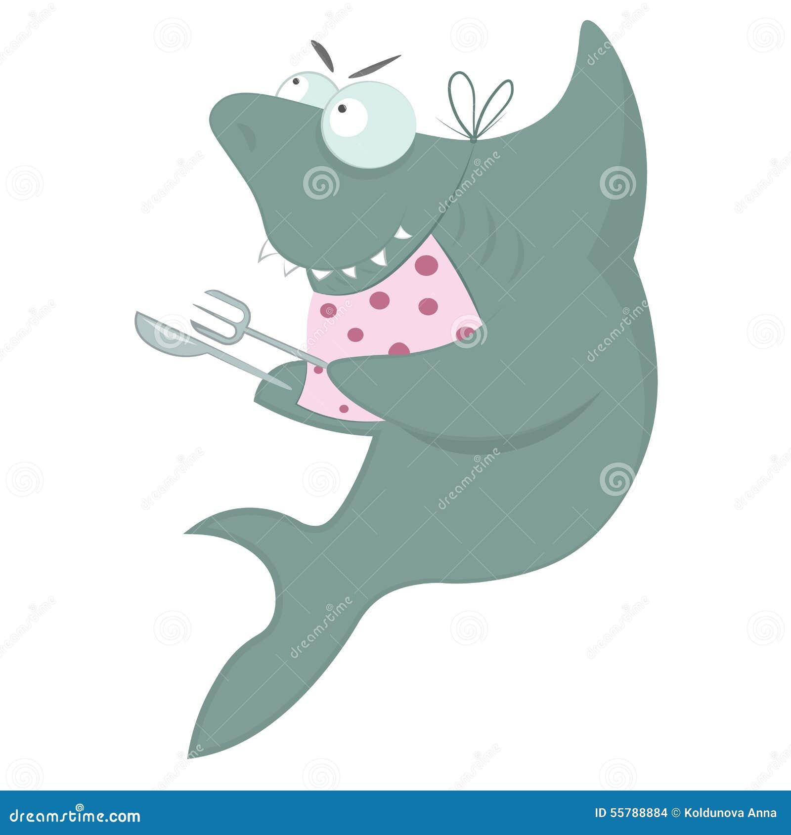 Акула ждет обедающий