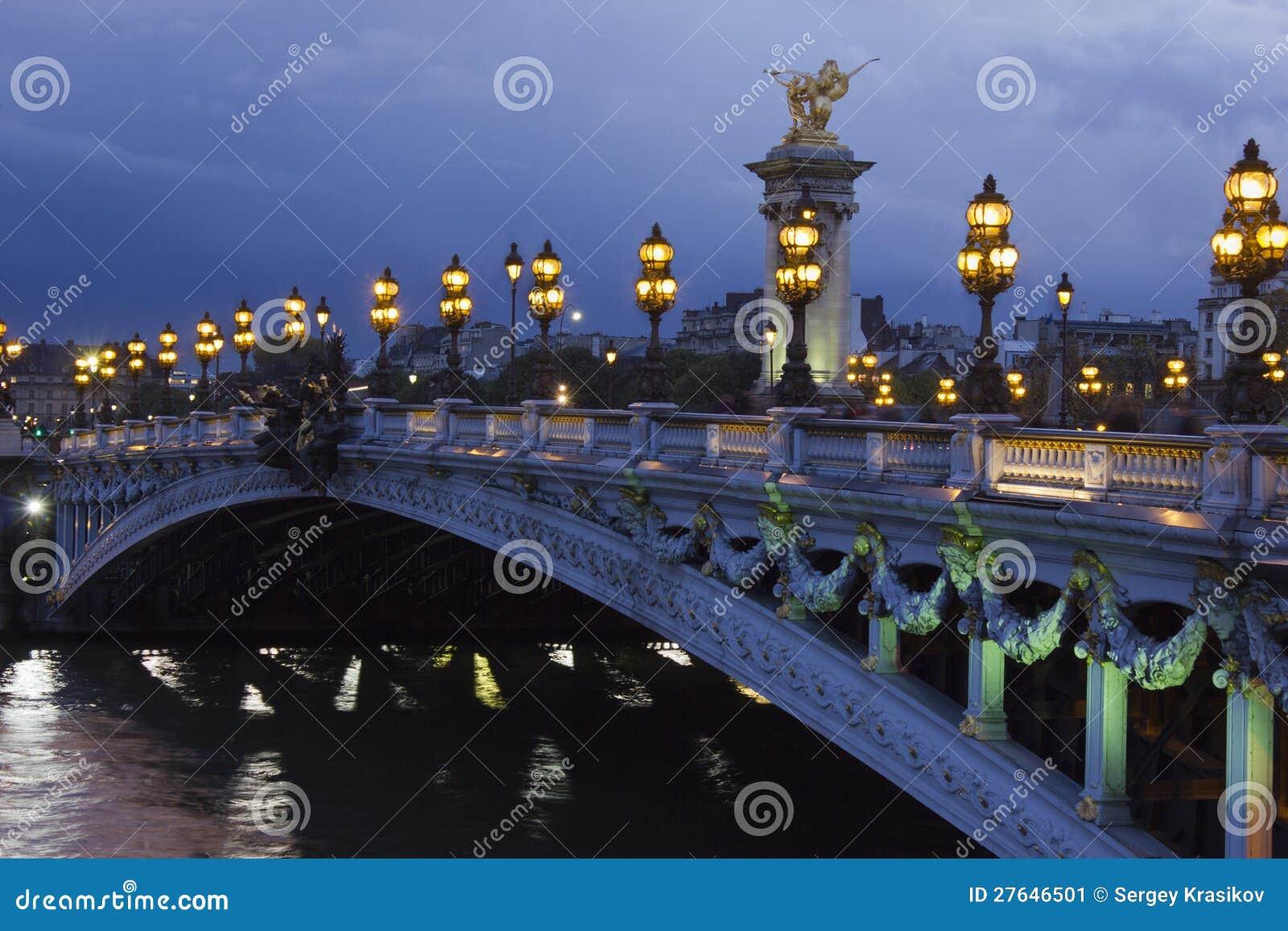 Александр третий мост, Париж