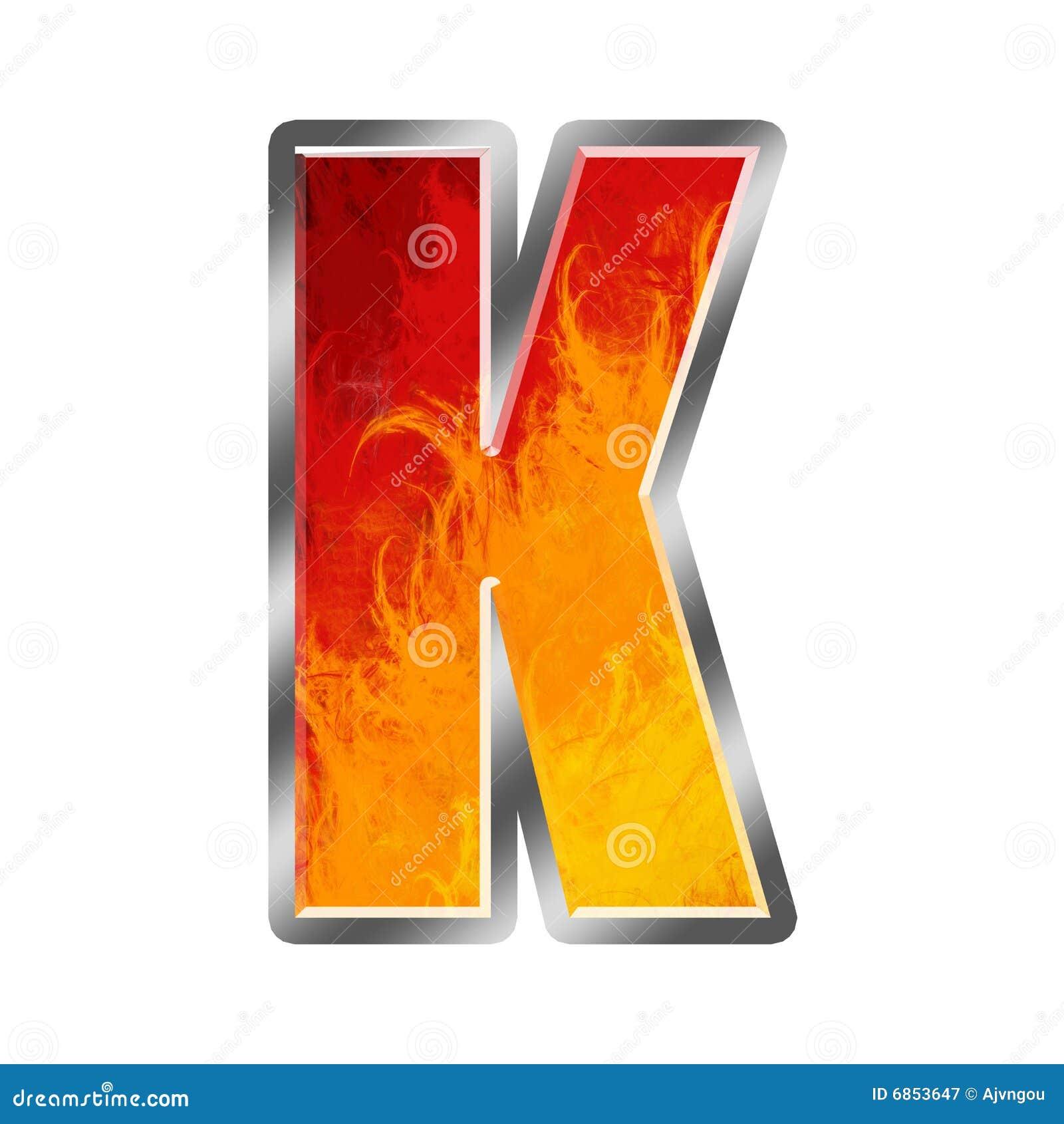 алфавит пылает письмо k