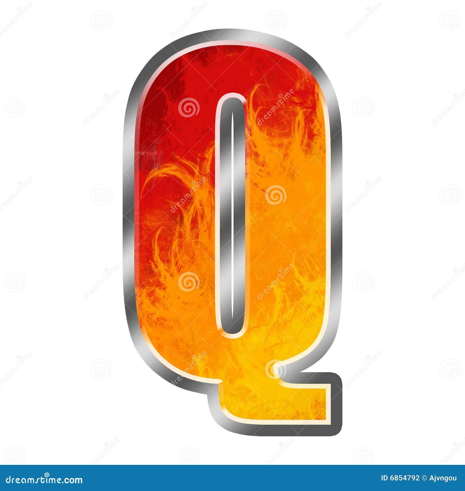 алфавит пылает письмо q