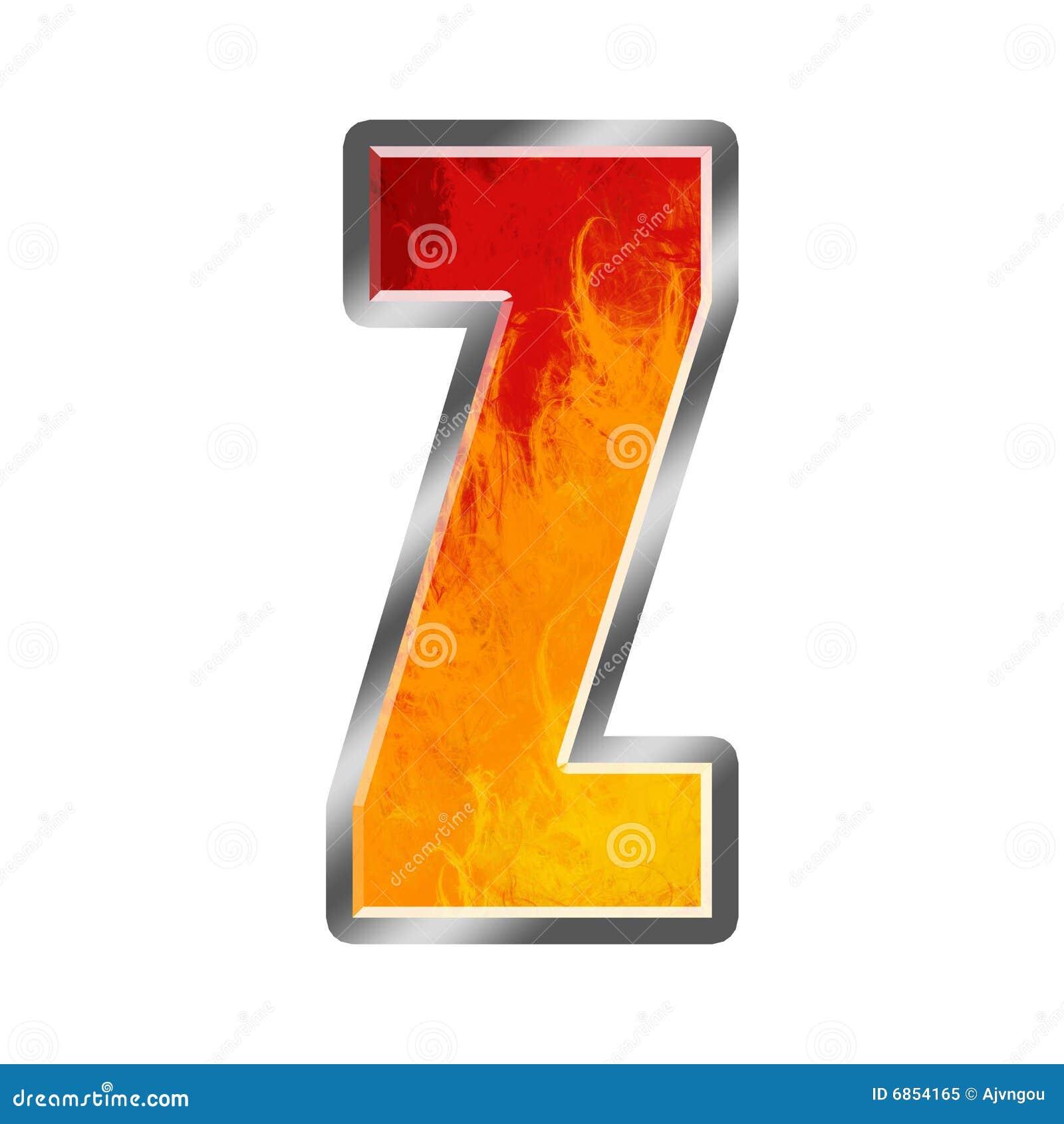 алфавит пылает письмо z