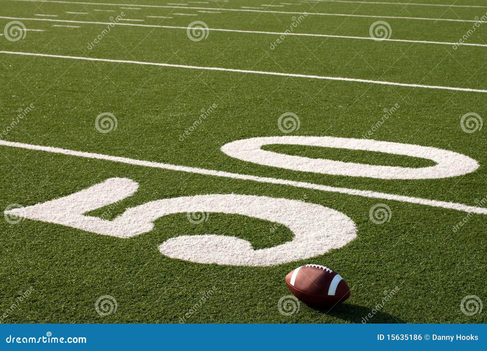 американский космос футбола поля экземпляра