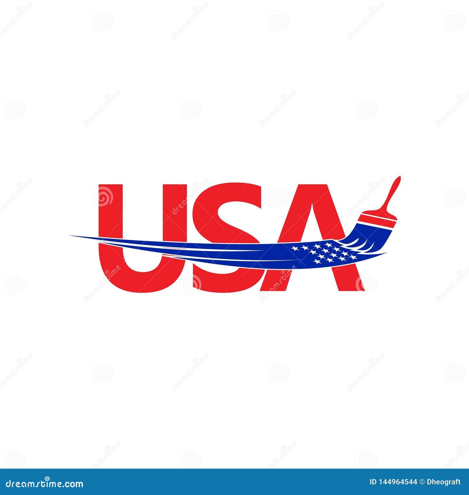 Американский логотип краски