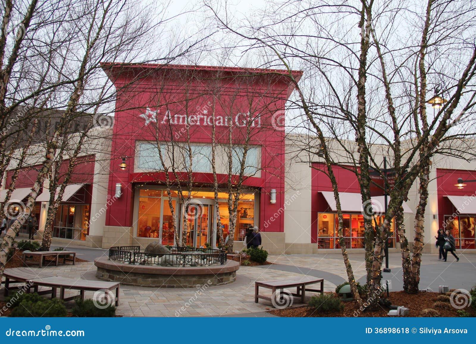 Американский магазин девушки