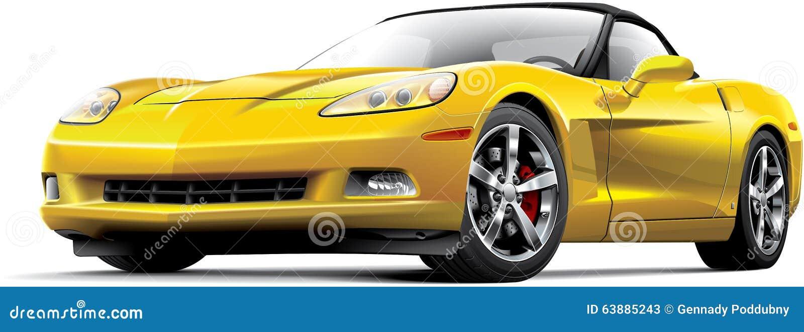 Американский роскошный автомобиль спорт