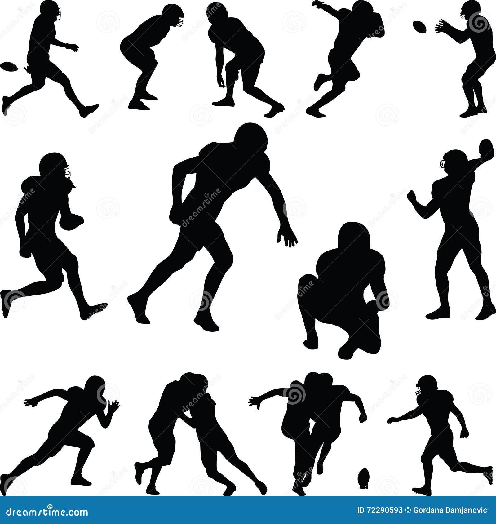 Download американский футболист иллюстрация вектора. иллюстрации насчитывающей коллеж - 72290593